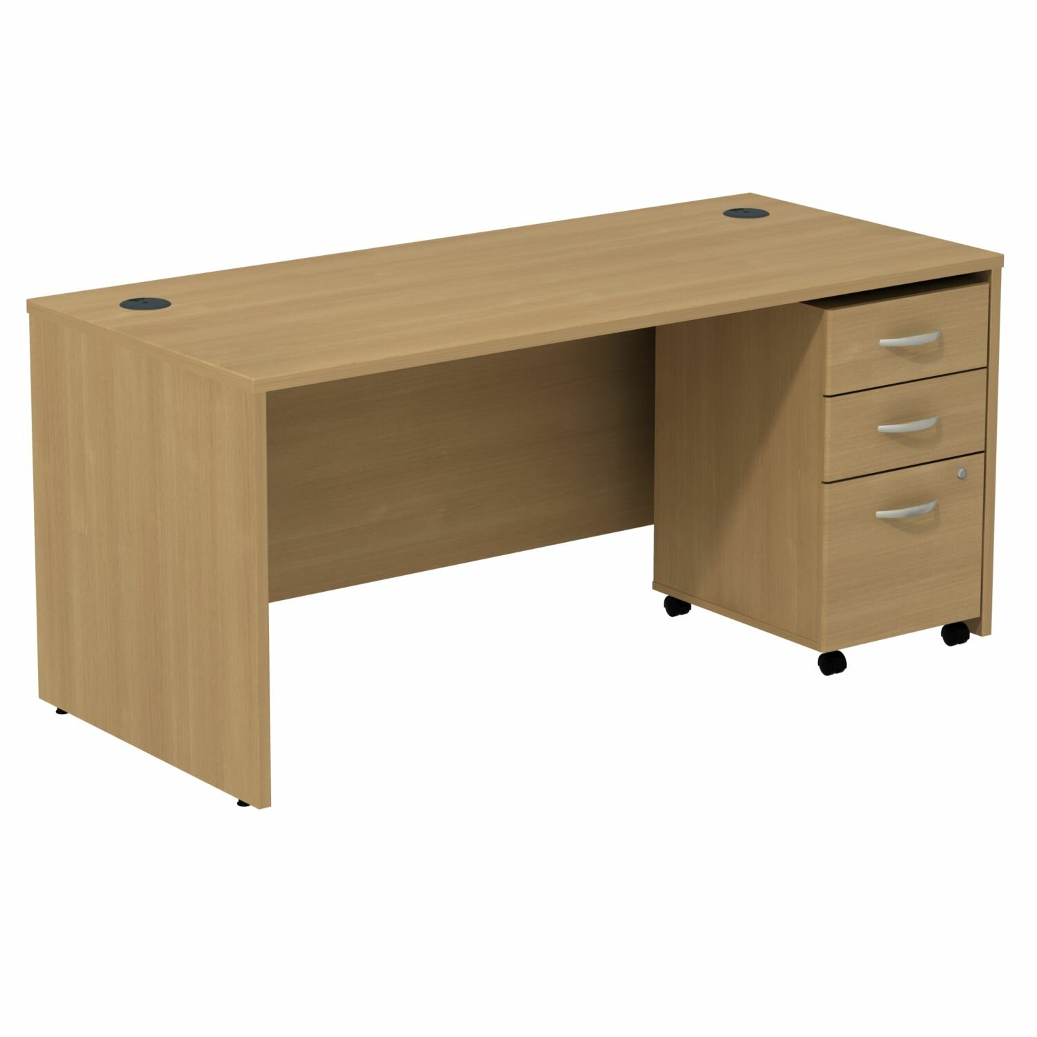 Amazing photo of Series C Writing Desk with 3 Drawer File by Bush Business Furniture with #654C30 color and 1500x1500 pixels
