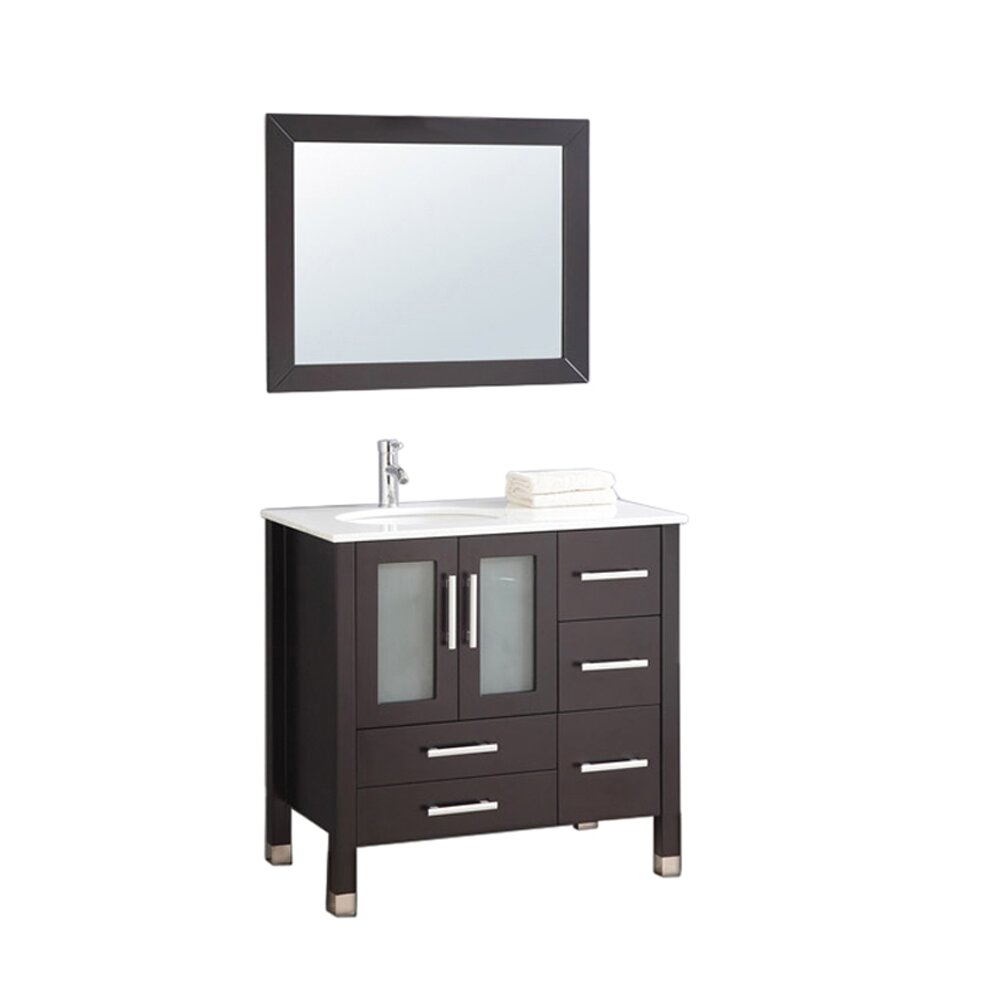 Left Side Sink Vanity : MTD Vanities Sweden 36