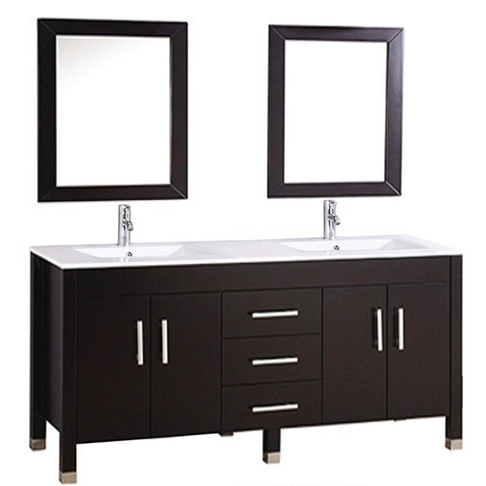 """MTDVanities Monaco 63"""" Double Sink Bathroom Vanity Set"""