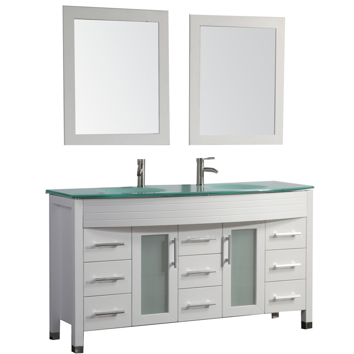 Mtdvanities Figi 63 Double Sink Bathroom Vanity Set With Mirrors Reviews Wayfair