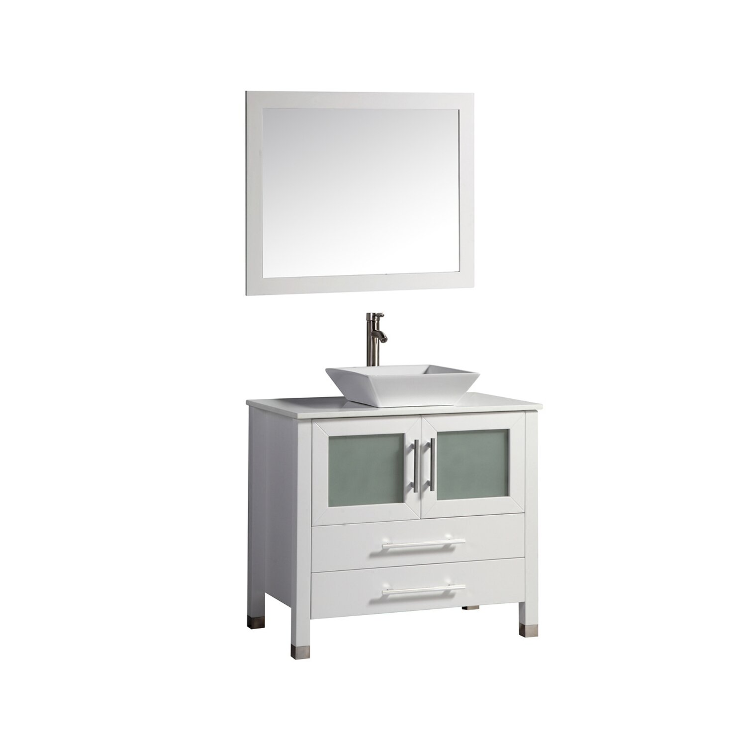 mtd vanities monaco 36 single sink bathroom vanity set with mirror