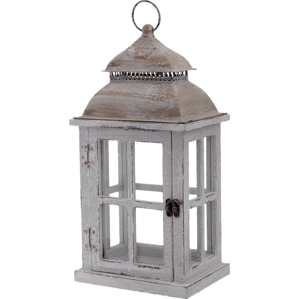 Boston international rustic wooden outdoor hanging lantern for Wooden garden lanterns