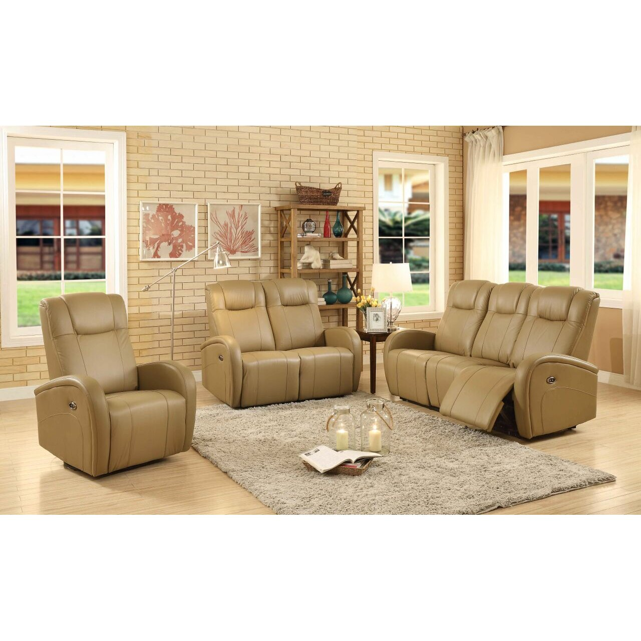 easy living swiss 3 piece power reclining living room set by sunset