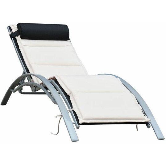 homcom adjustable sun lounger with cushion reviews wayfair uk. Black Bedroom Furniture Sets. Home Design Ideas