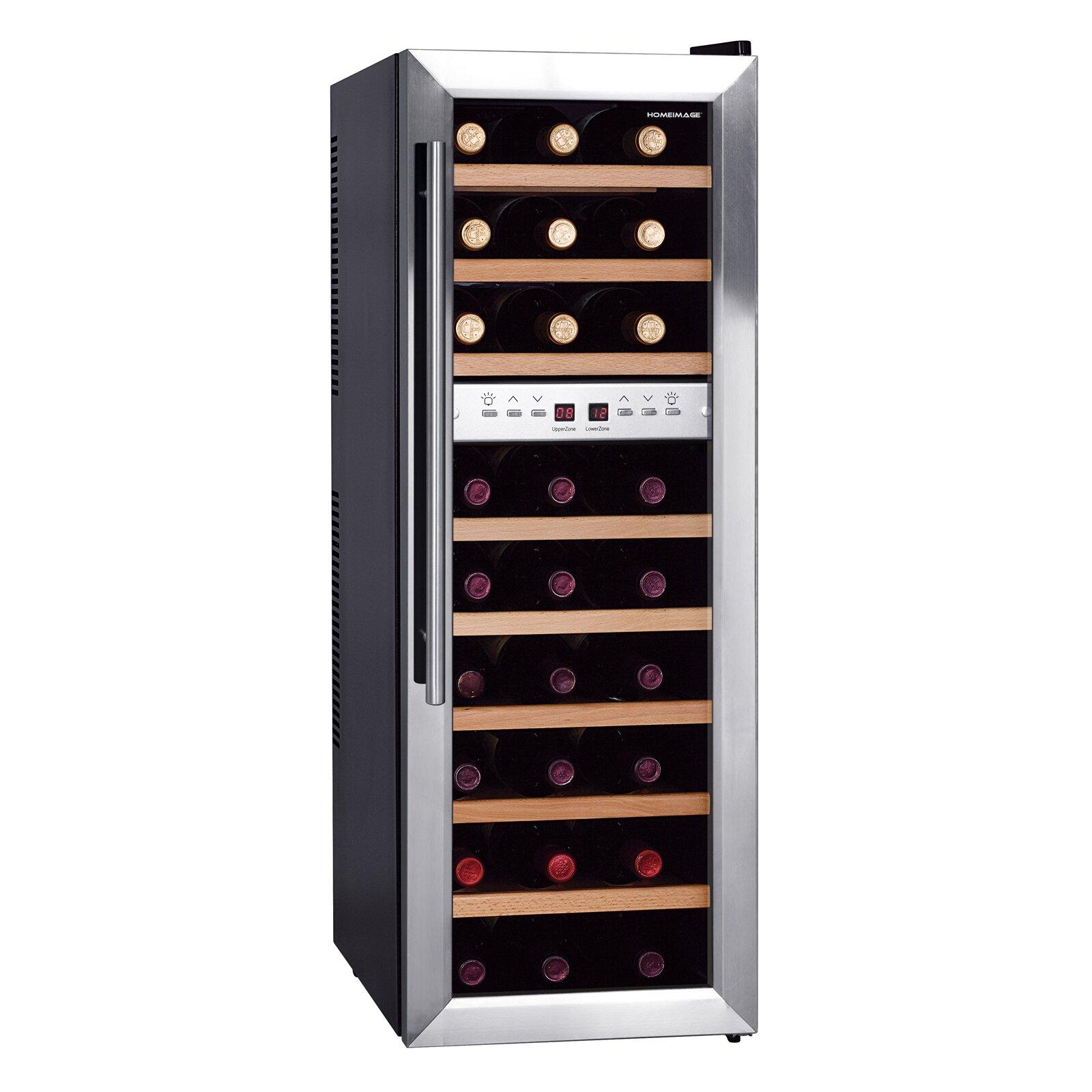 homeimage 27 bottle dual zone freestanding wine refrigerator reviews wayfair. Black Bedroom Furniture Sets. Home Design Ideas