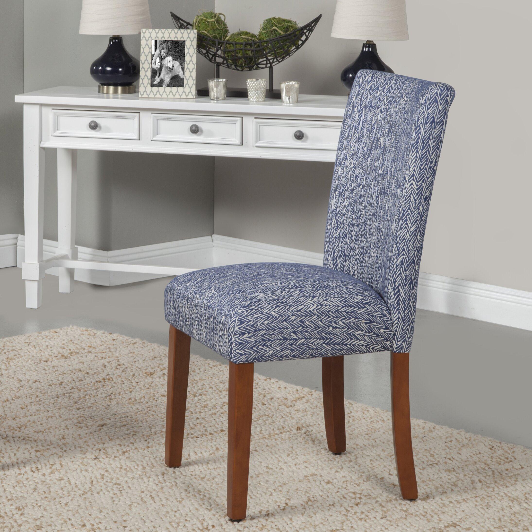 HomePop Upholstered Parsons Chair In Blue Reviews Wayfair