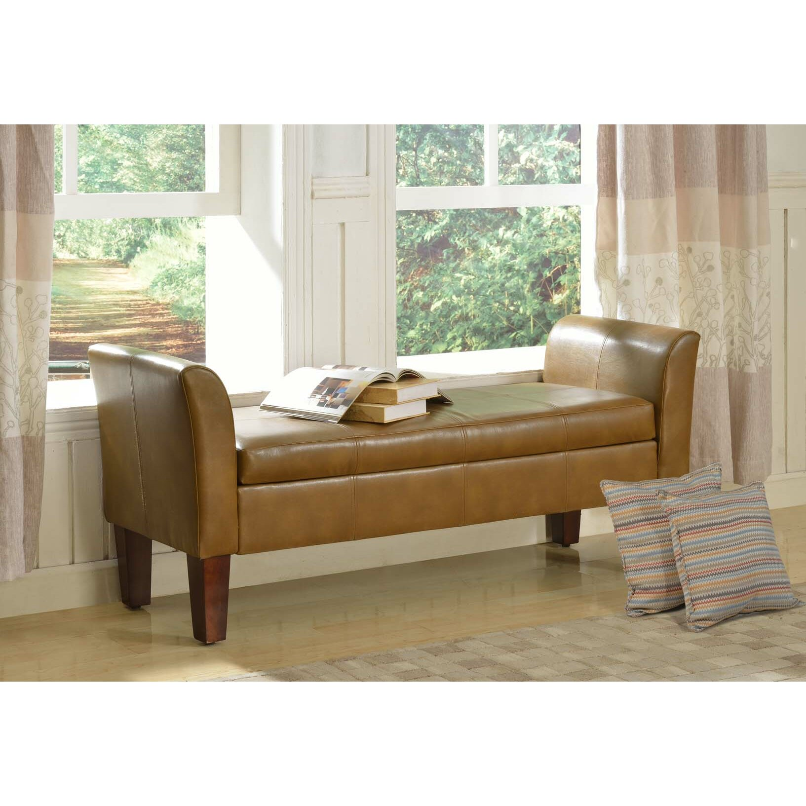 Homepop Storage Bench Reviews: HomePop Two Seat Bench With Storage & Reviews