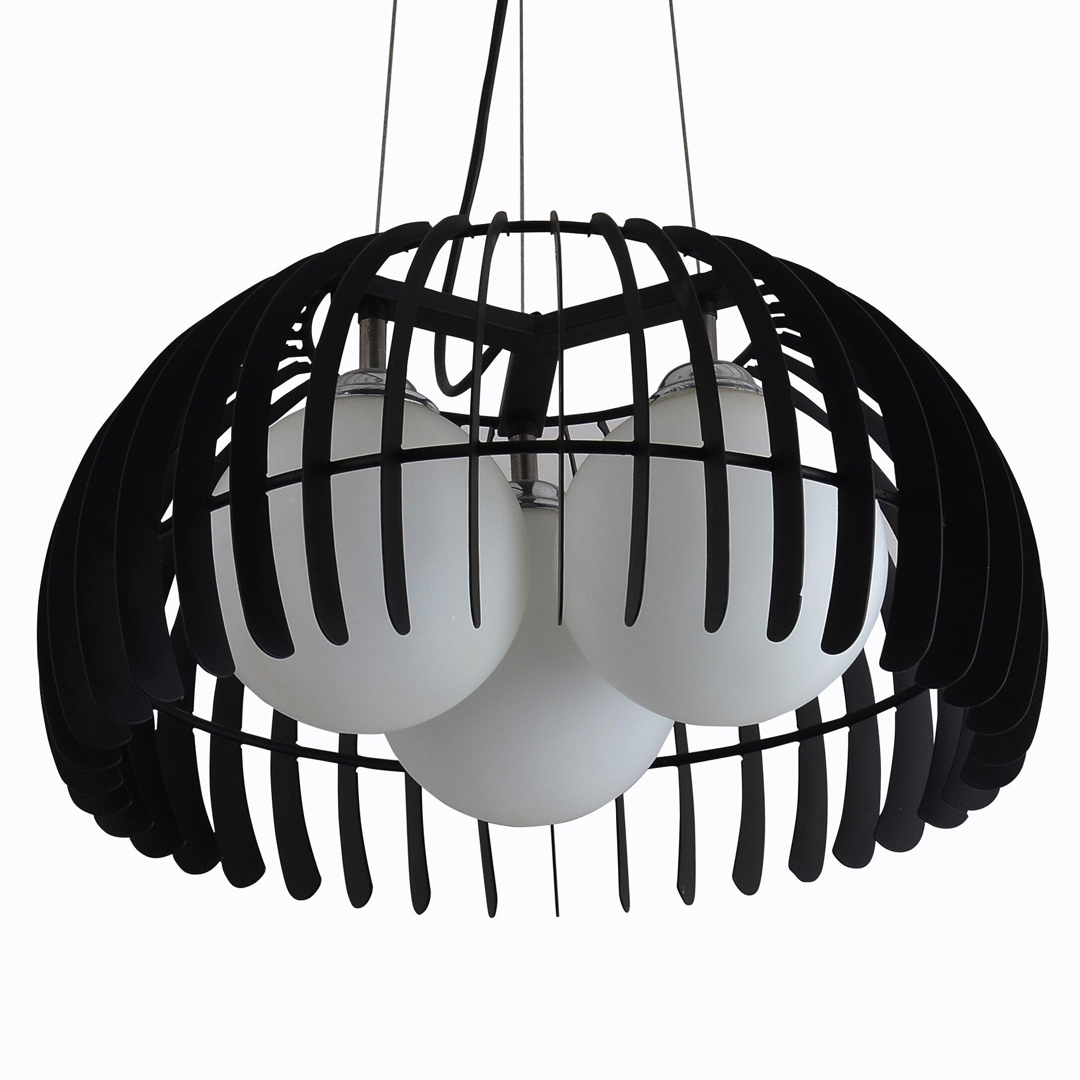 pendelleuchte 3 flammig liwia von lampex. Black Bedroom Furniture Sets. Home Design Ideas