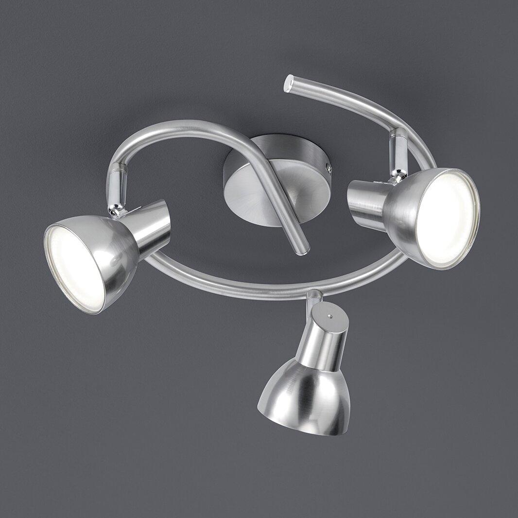 led deckenleuchte 3 flammig von trio. Black Bedroom Furniture Sets. Home Design Ideas