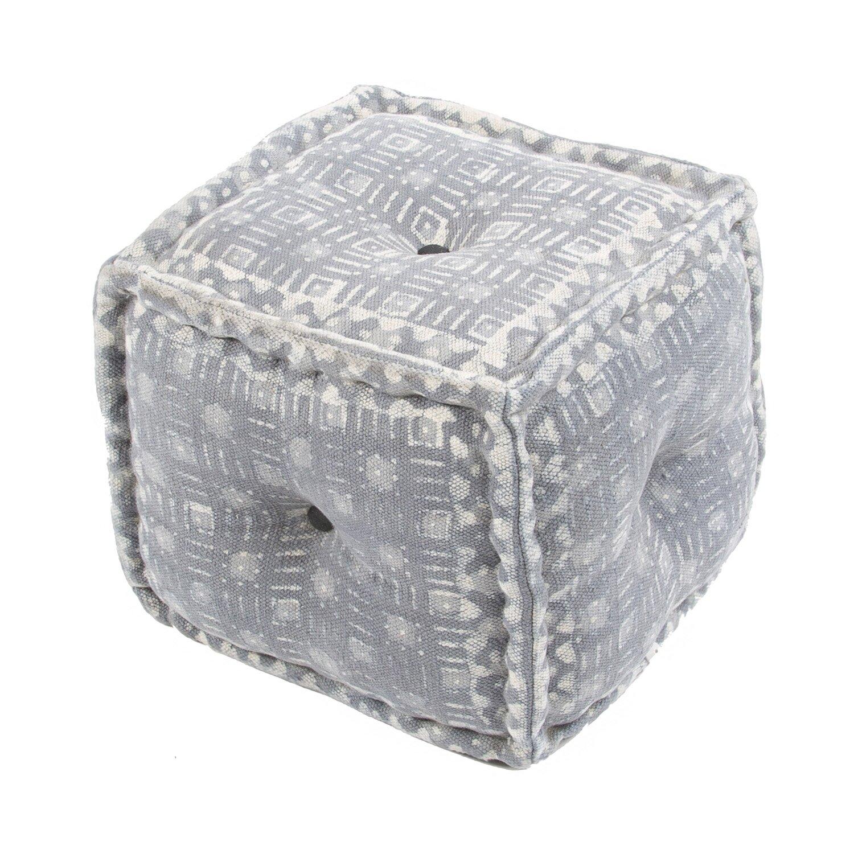 jaipur rugs dabu modern pouf ottoman reviews wayfair. Black Bedroom Furniture Sets. Home Design Ideas