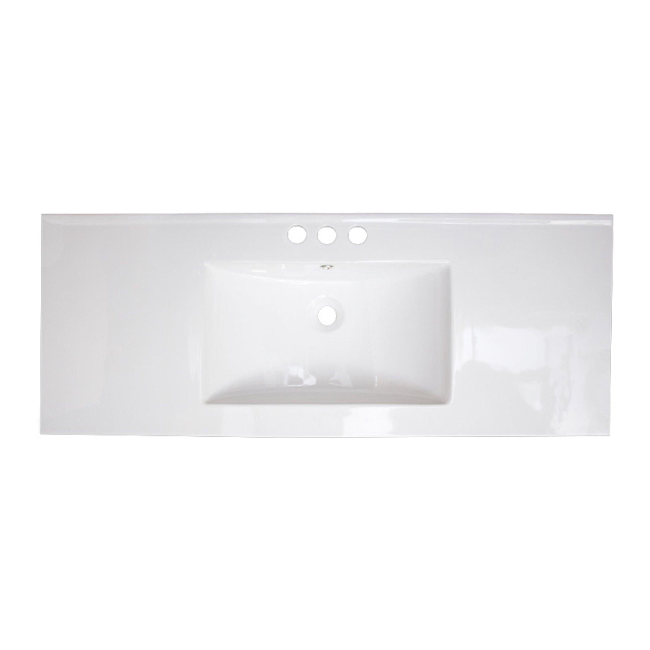 48quot; Ceramic Bathroom Vanity Top by American Imaginations