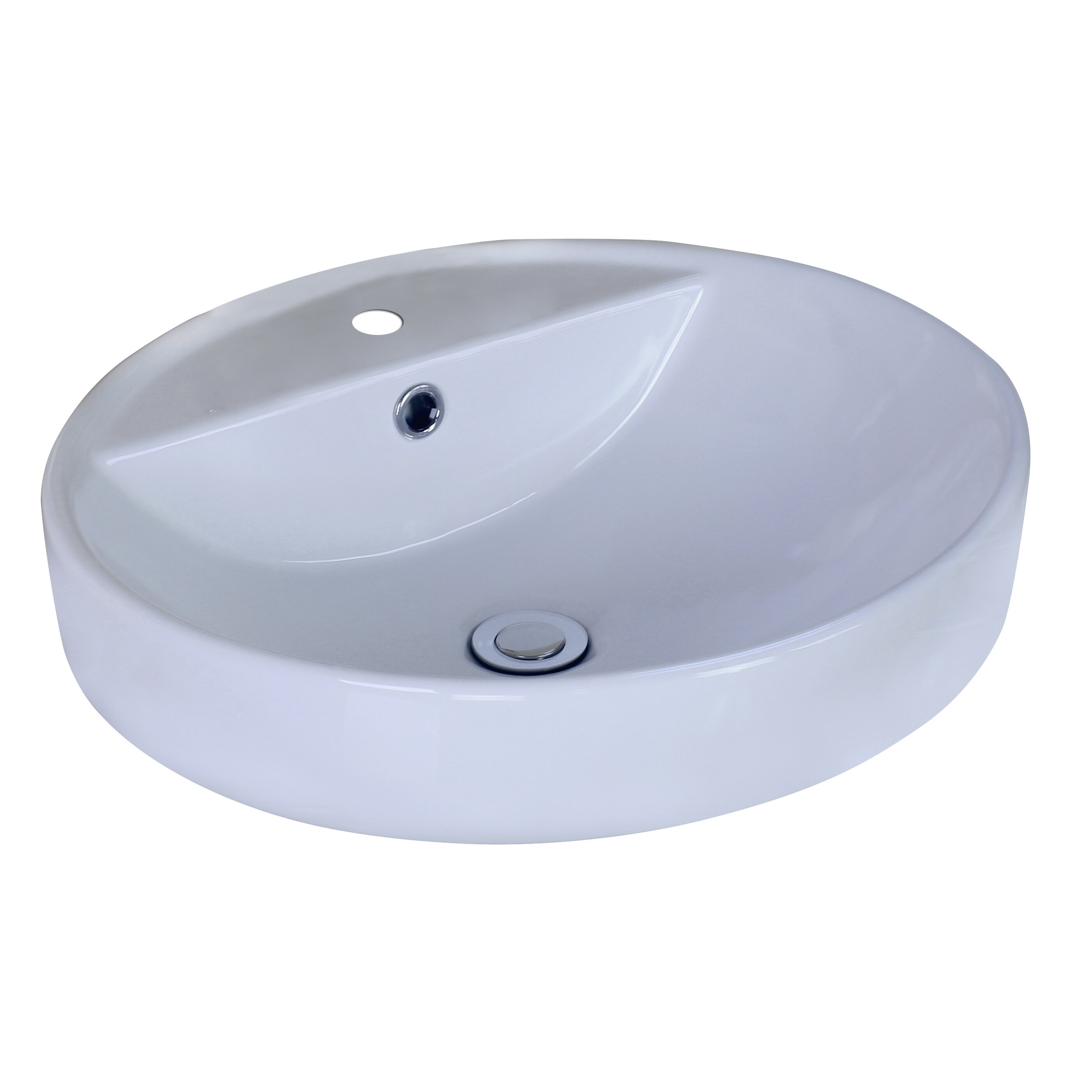 Vessel Sink Overflow : Round Vessel Sink with Overflow by American Imaginations