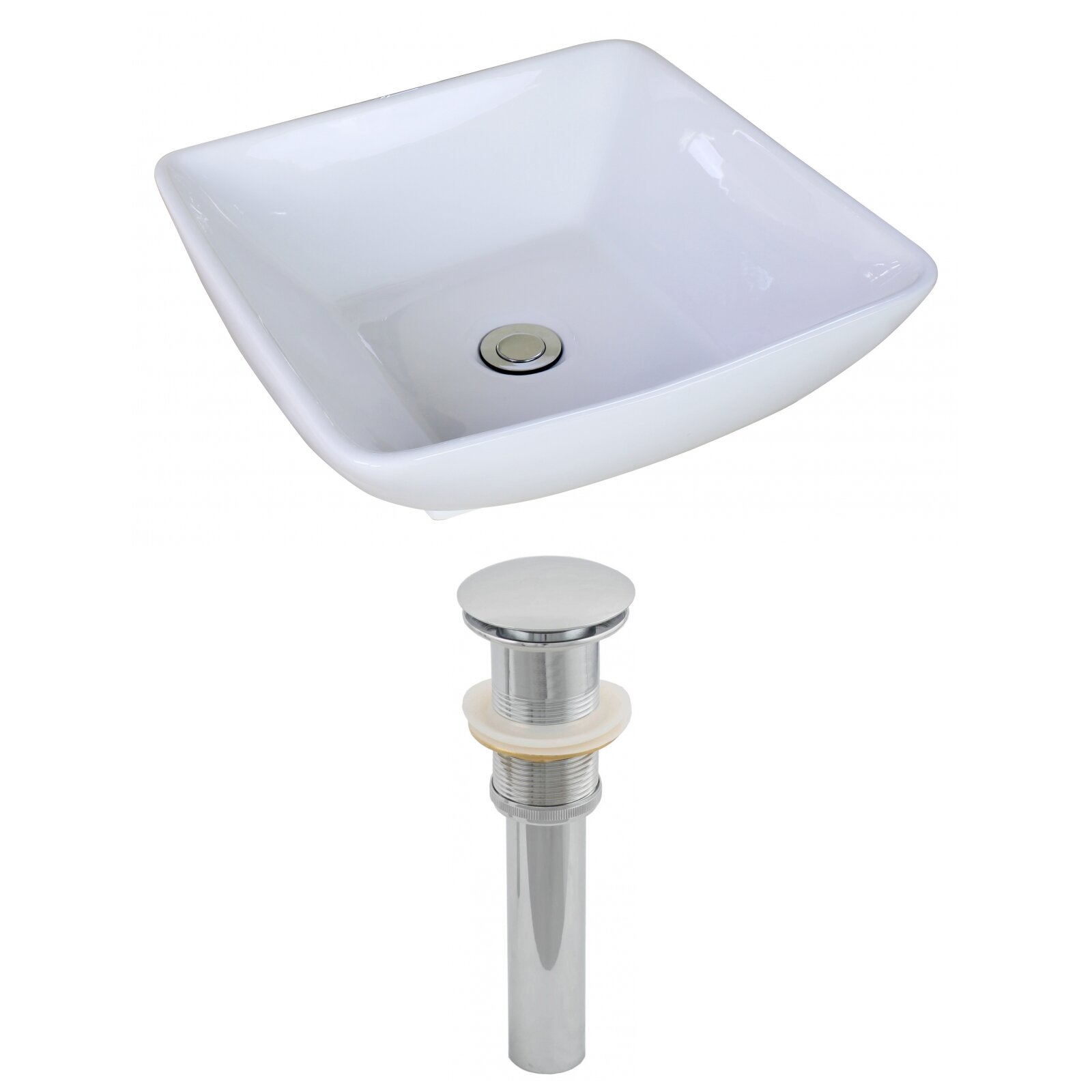 Rectangle Vessel Sink with Overflow by American Imaginations