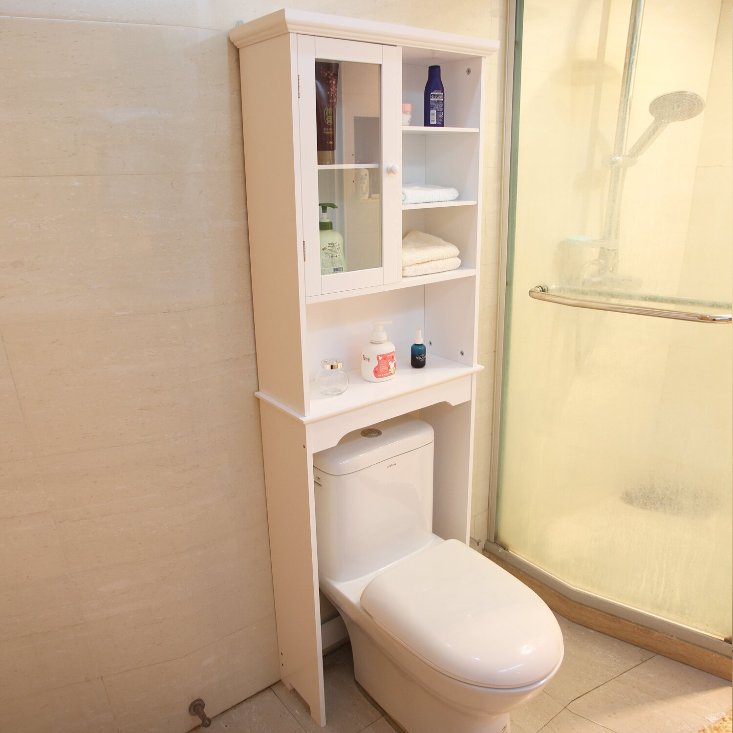 Adecotrading 24 Quot X 68 5 Quot Free Standing Over The Toilet