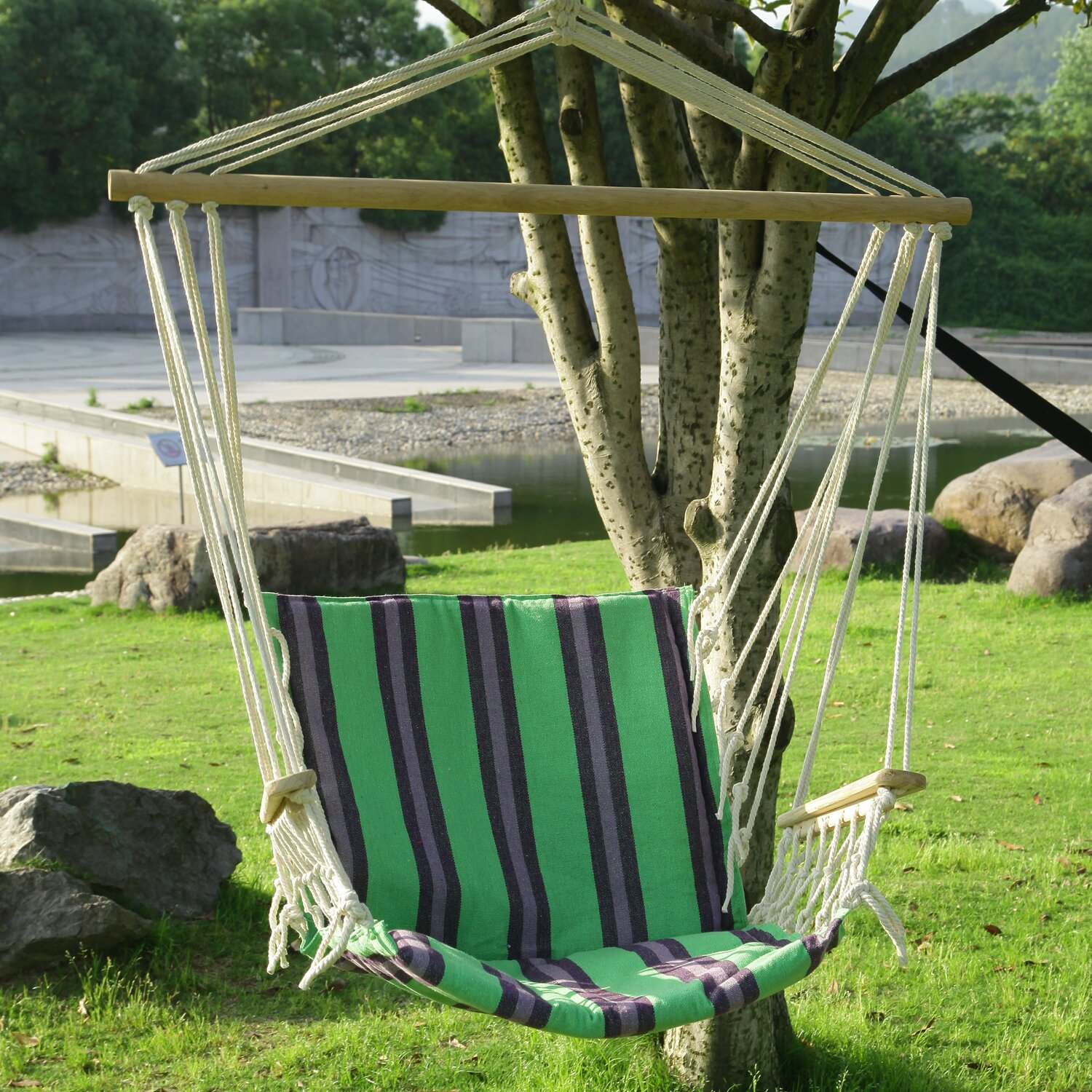 Backyard Hammock Reviews :  Hanging Suspended IndoorOutdoor Hammock Chair & Reviews  Wayfair