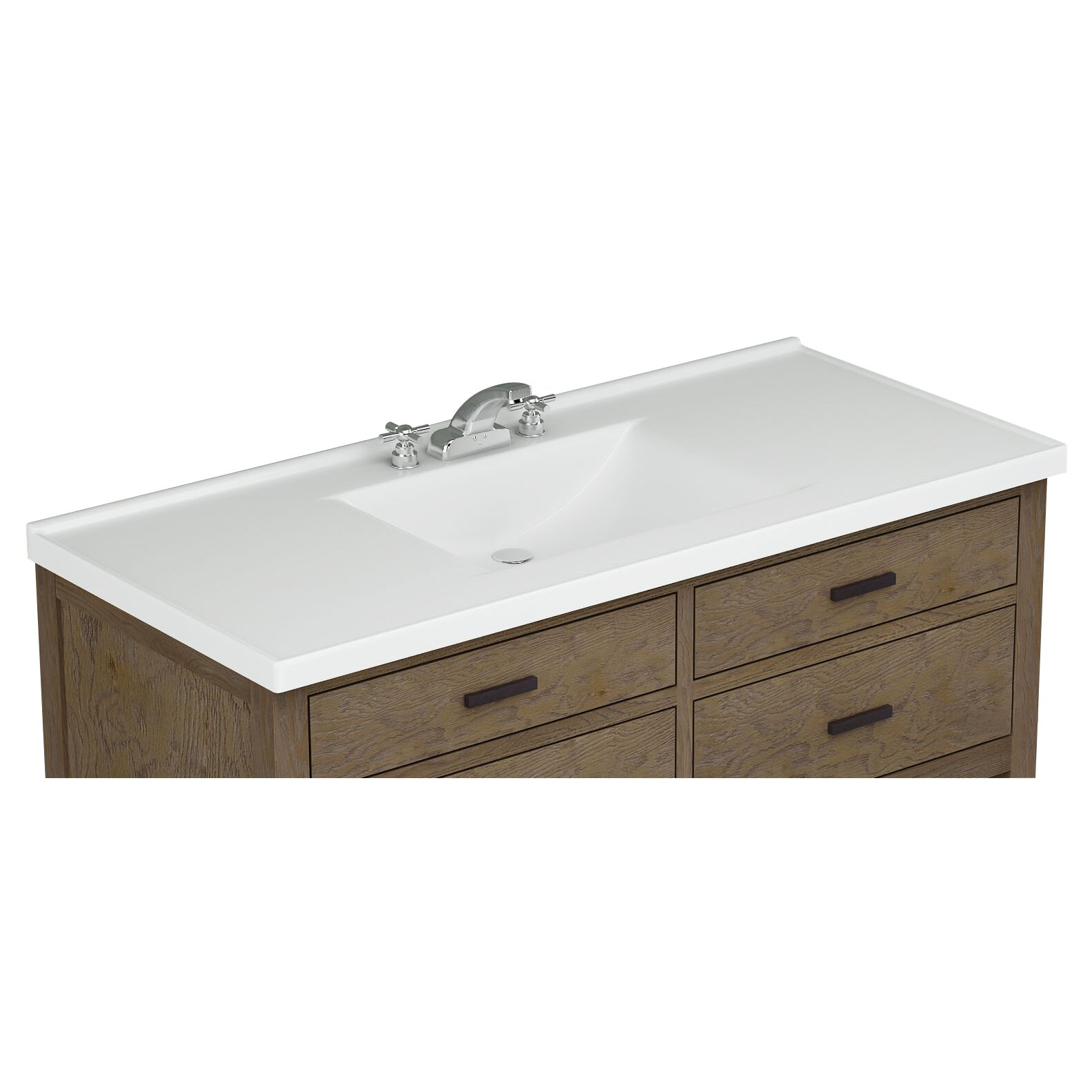 sunny wood premier tops 49 bathroom vanity top with integrated basin