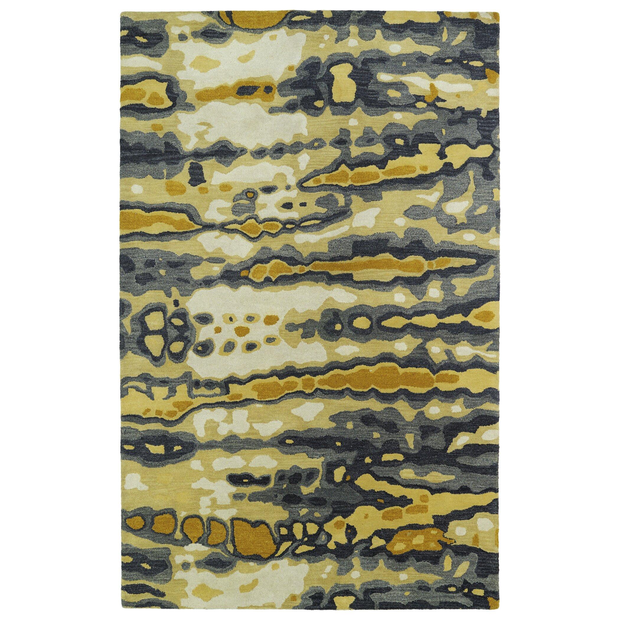 8 Apsley Place Kaleen Kaleen Brushstrokes Gold Gray Area Rug Brs