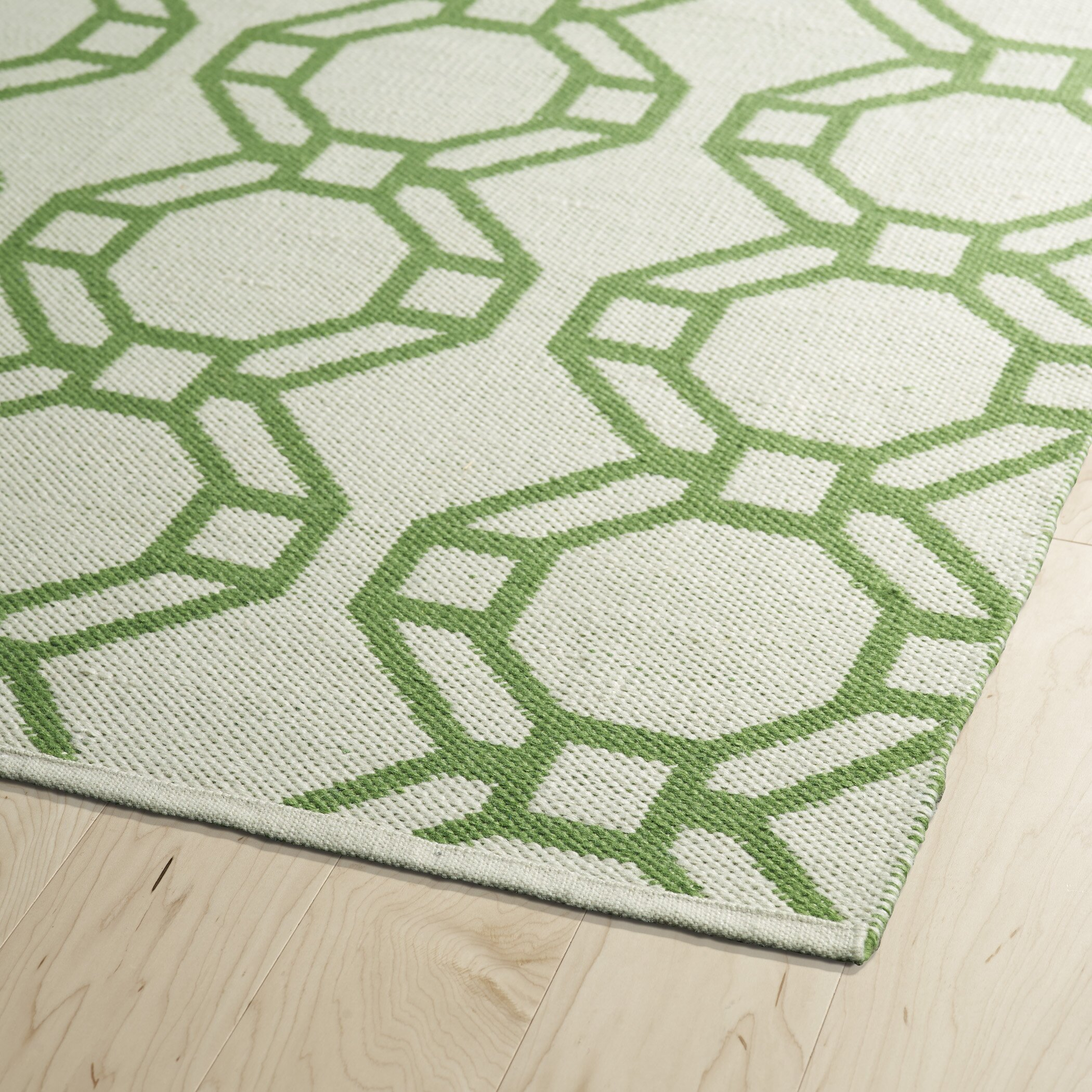 Lime Green Outdoor Area Rug: Brisa Cream/Lime Green Indoor/Outdoor Area Rug