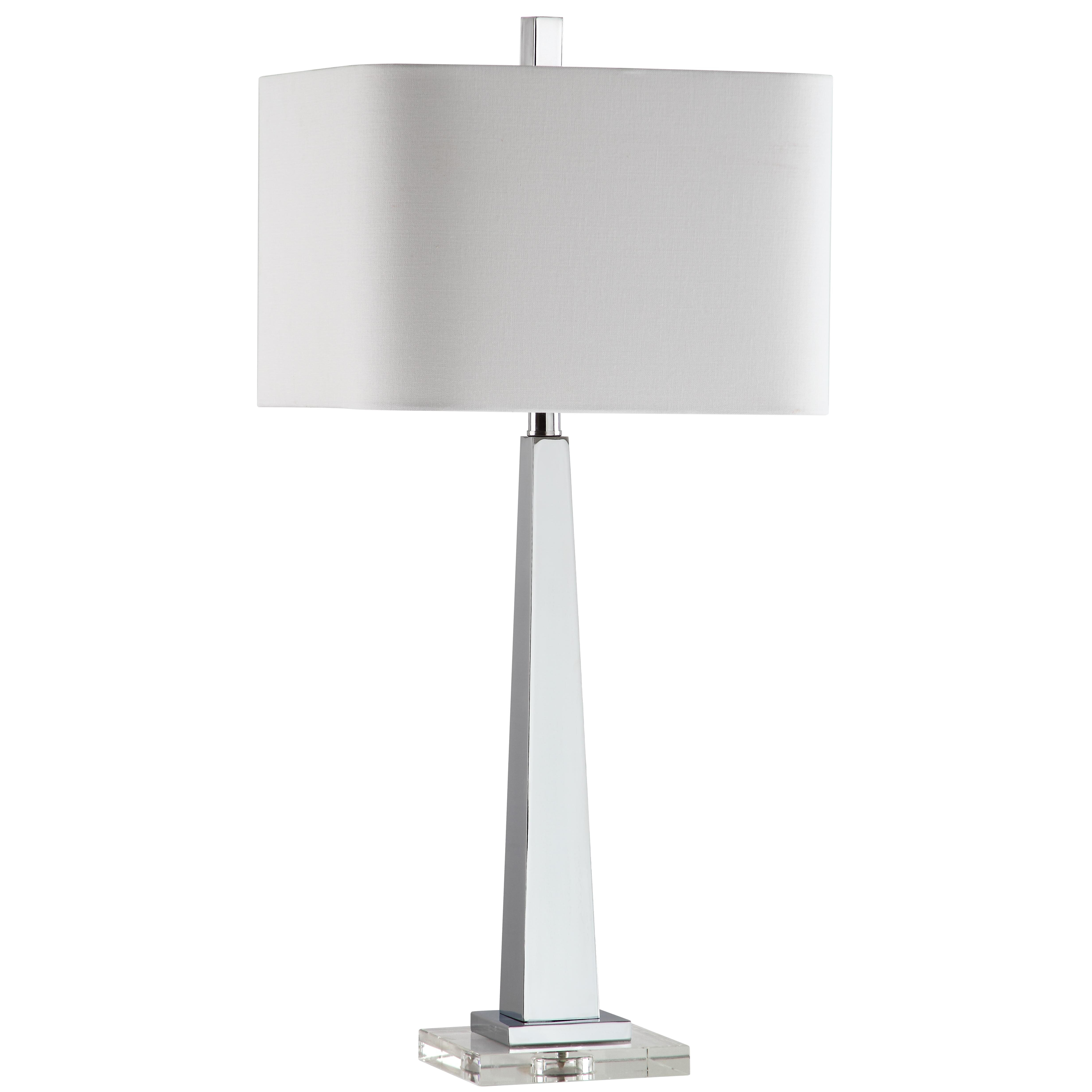 marianahome modern 32 h table lamp with rectangular shade. Black Bedroom Furniture Sets. Home Design Ideas
