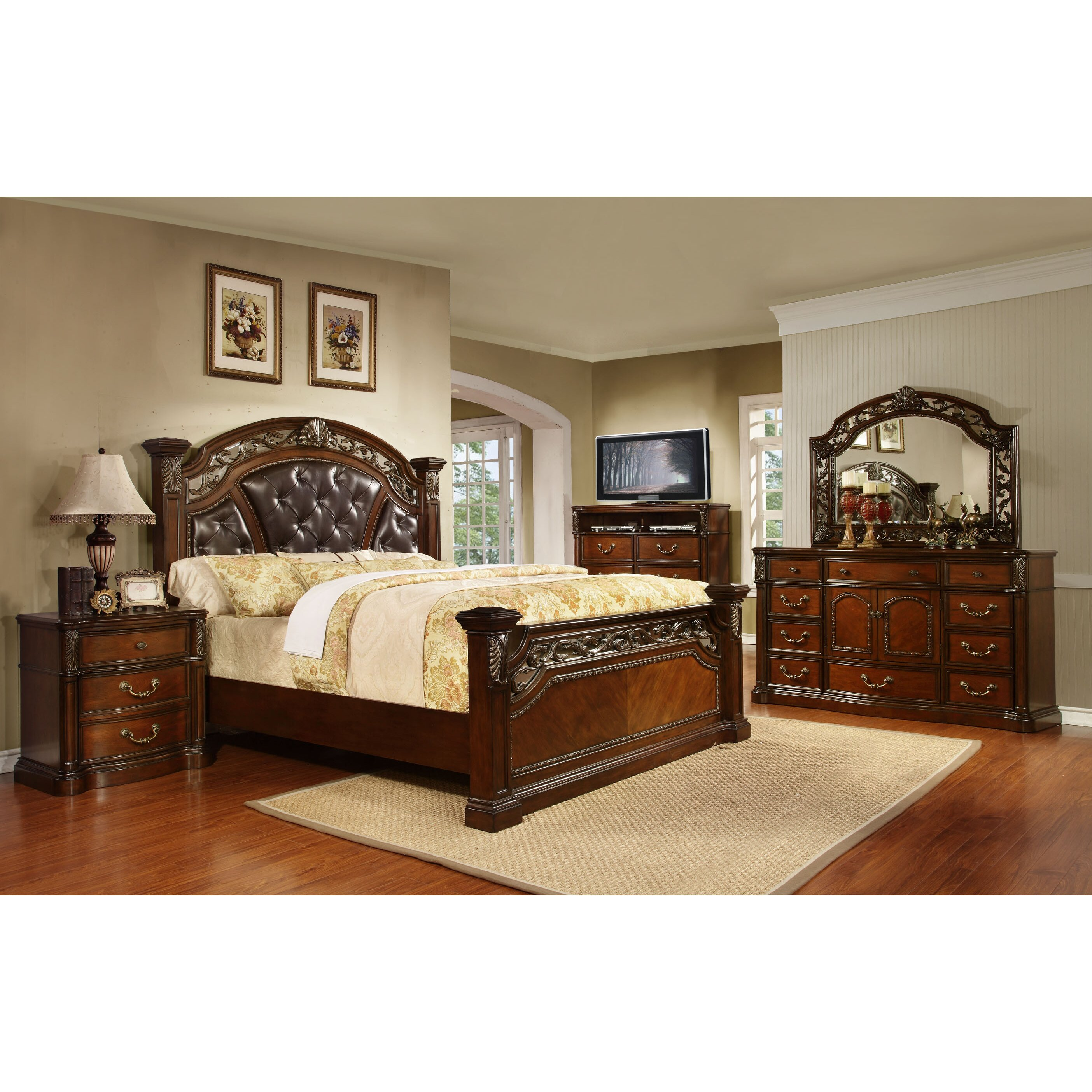 avalon furniture vistoso panel customizable bedroom set