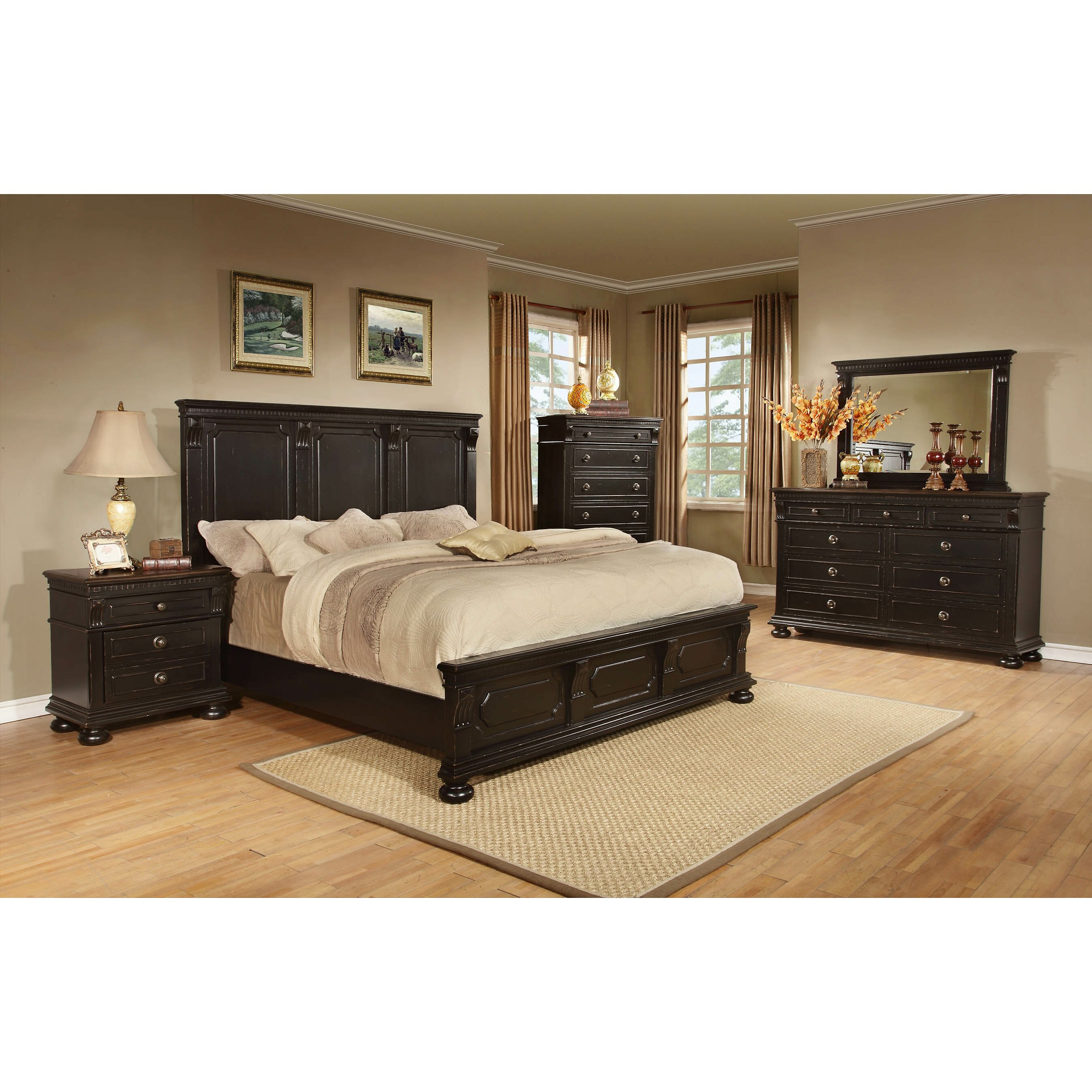 avalon furniture rivington hall panel customizable bedroom