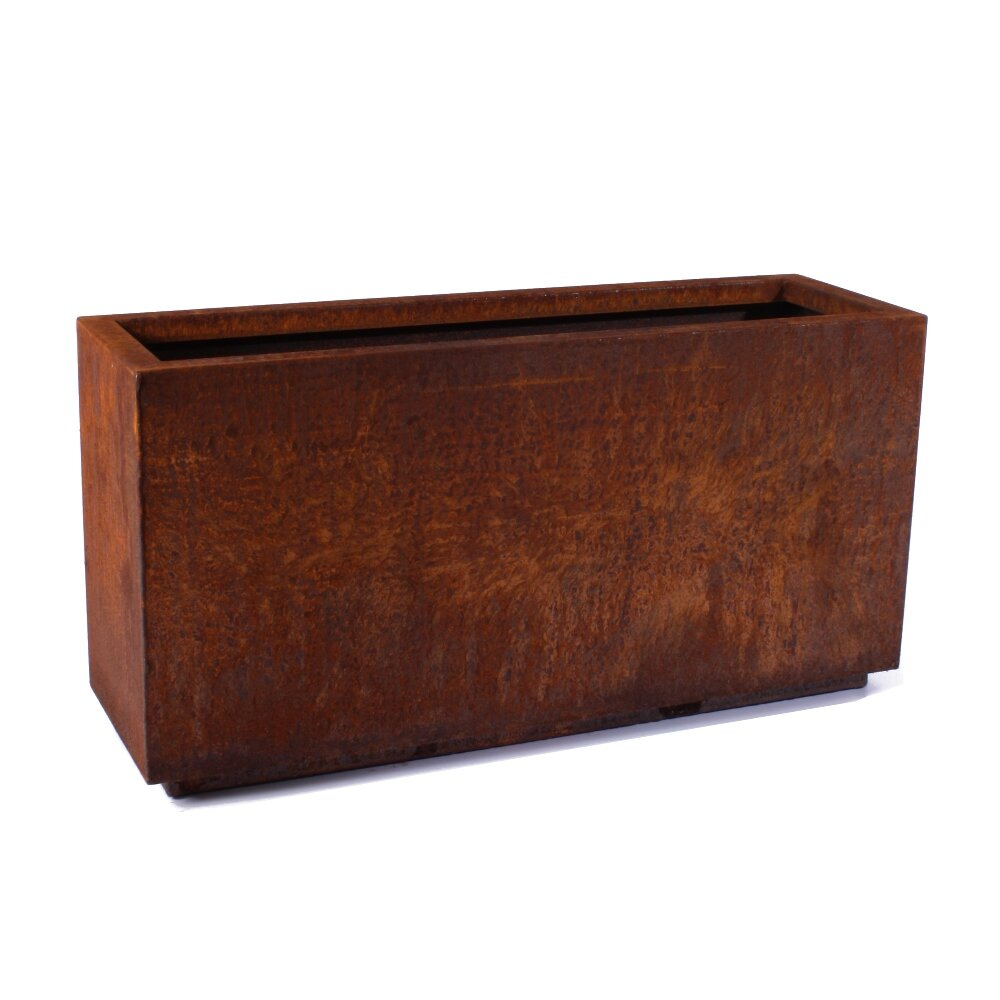 veradek metallic series corten steel rectangular planter box reviews wayfair