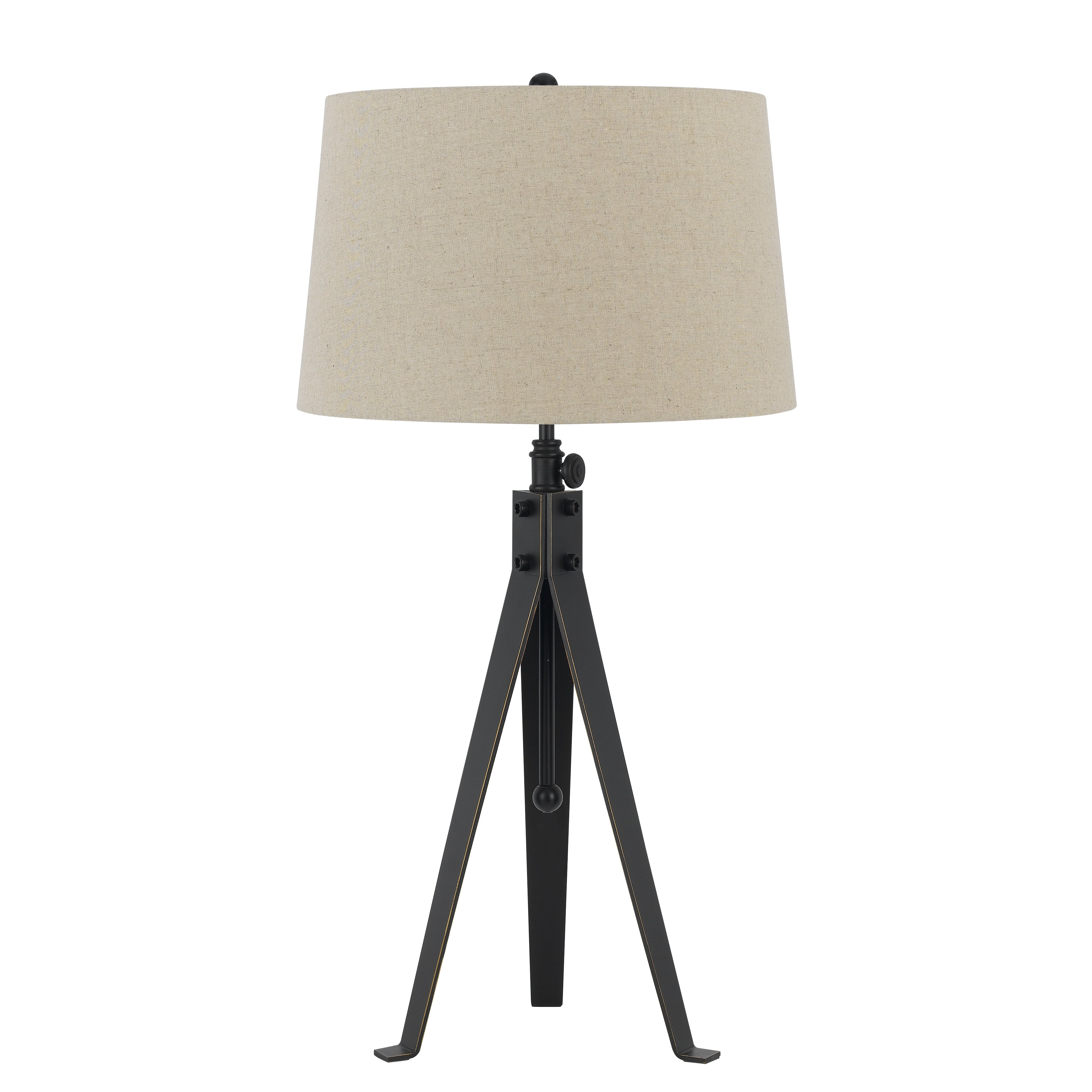 cal lighting tripod 3 way 32 5 h table lamp with empire shade. Black Bedroom Furniture Sets. Home Design Ideas