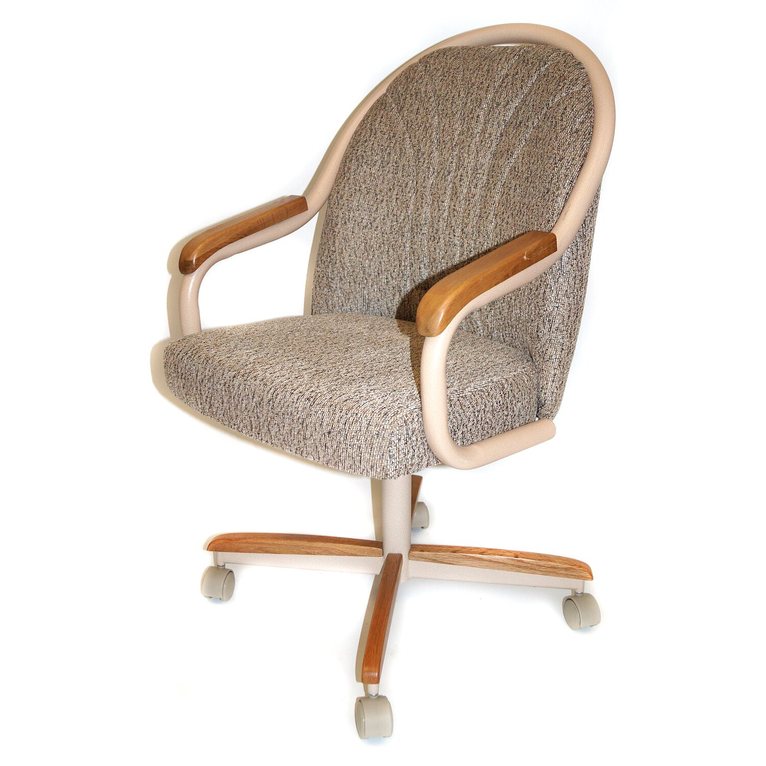 AW Furniture Mid Back Dining Caster Chair with Arms