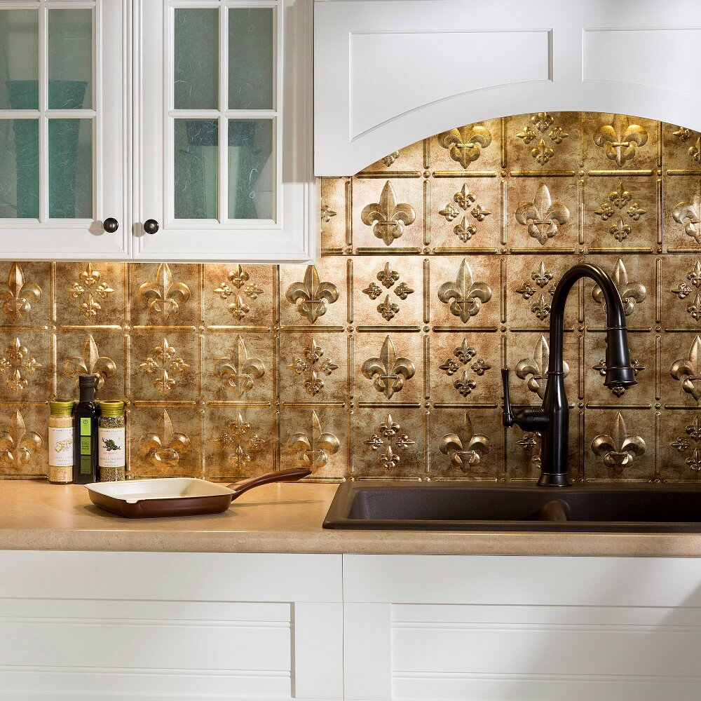 x pvc backsplash panel in bermuda bronze kit by f