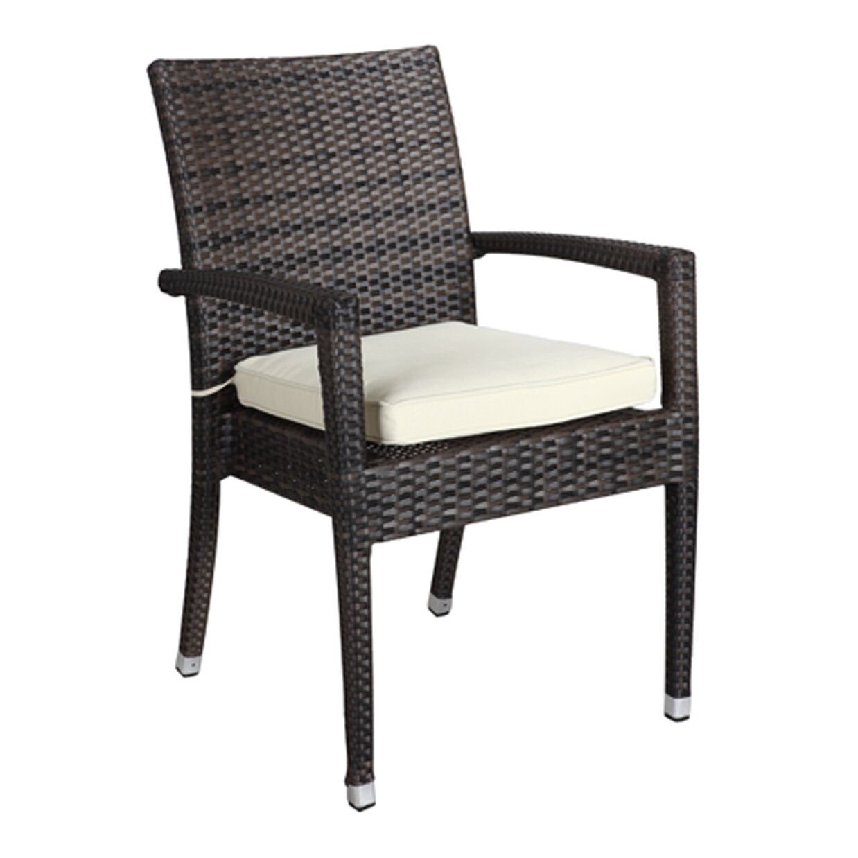 Rattan Outdoor Furniture Brighton Dining Arm Chair with ...