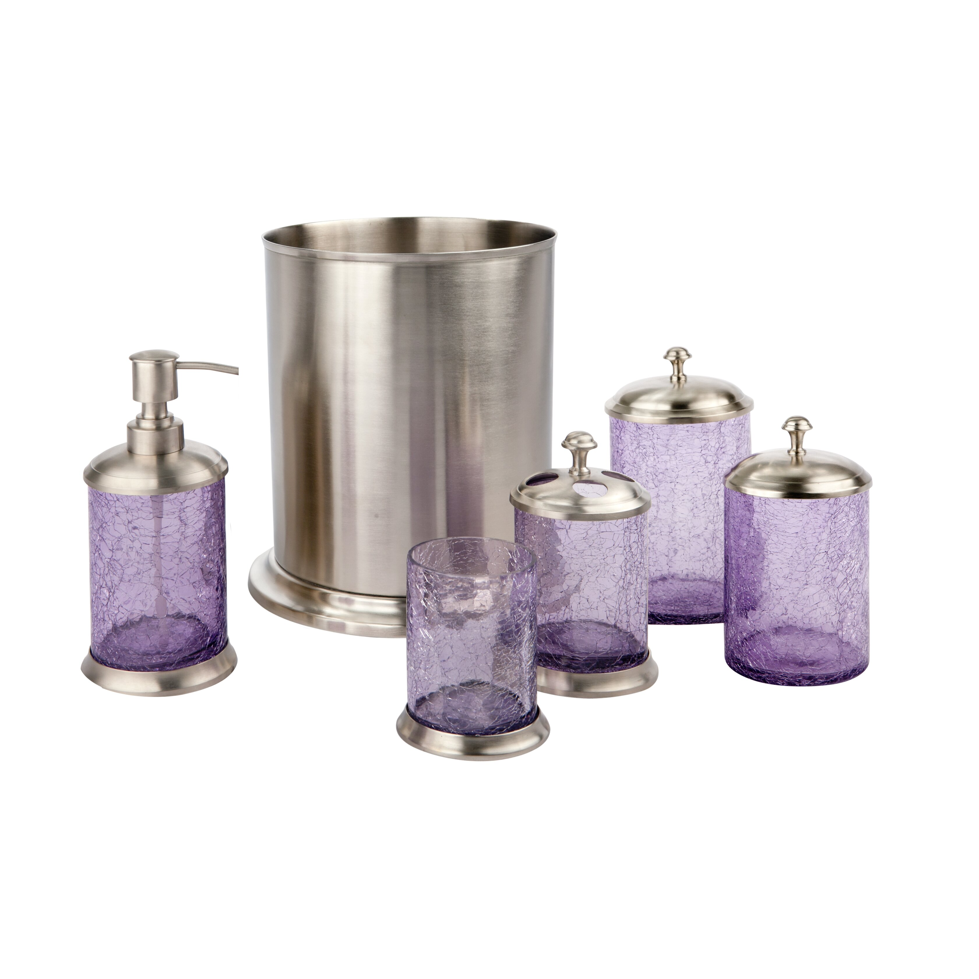 Paradigm trends lilac 6 piece bathroom accessory set amp reviews