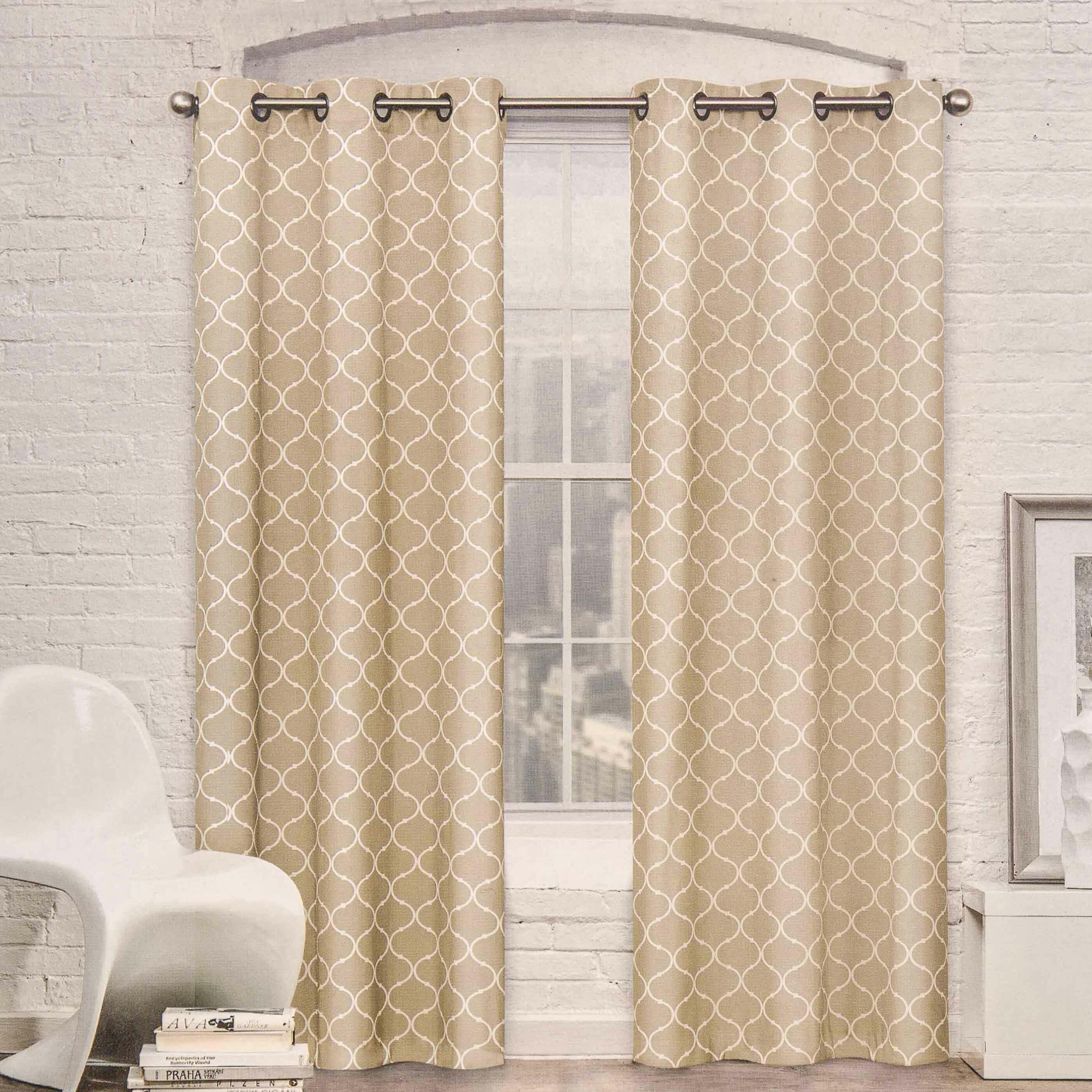 Curtain room dividers - Crover Moroccan Trellis Room Darkening Curtain Panel Amp Reviews