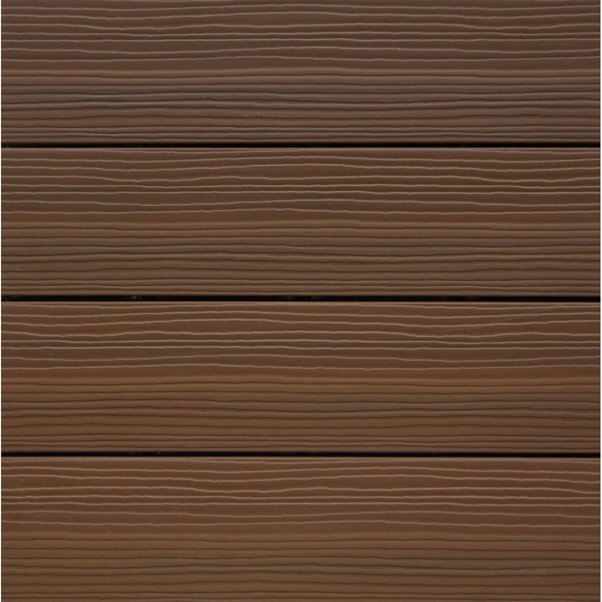 Newtechwood ultrashield brazilian ipe wood 12 x 12 for 12 x 12 wood floor tiles