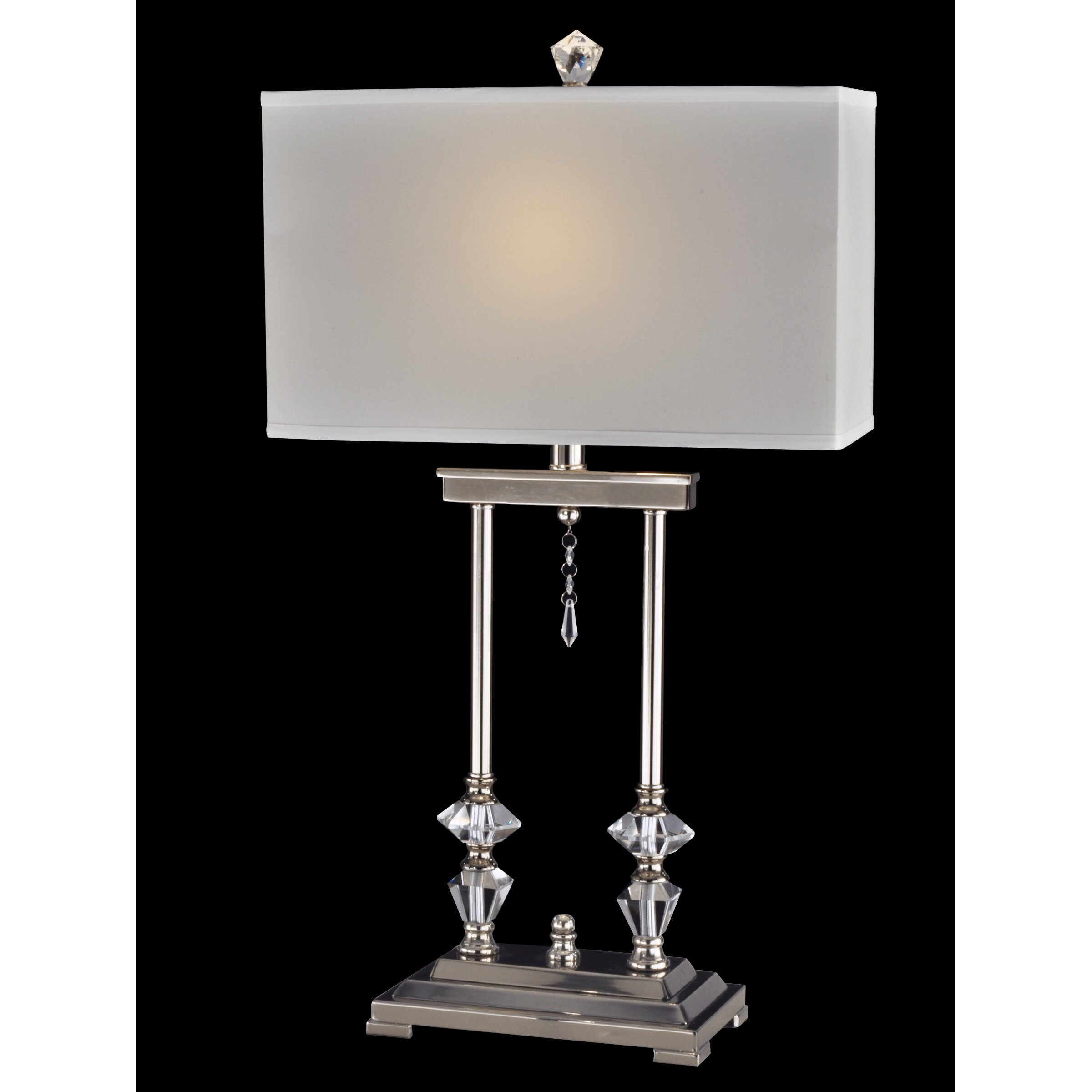 pulaski 28 3 h table lamp with rectangular shade by dale tiffany. Black Bedroom Furniture Sets. Home Design Ideas