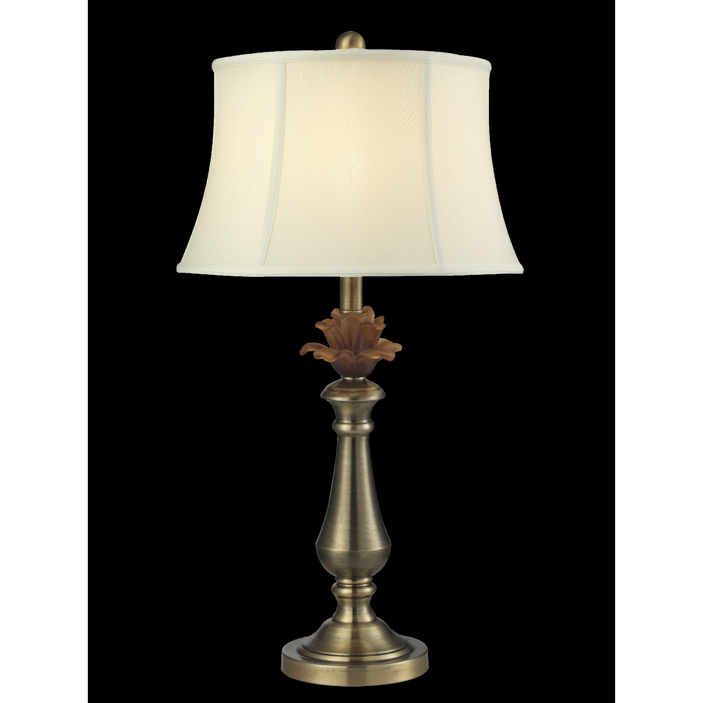 dale tiffany flower 26 h table lamp with empire shade. Black Bedroom Furniture Sets. Home Design Ideas
