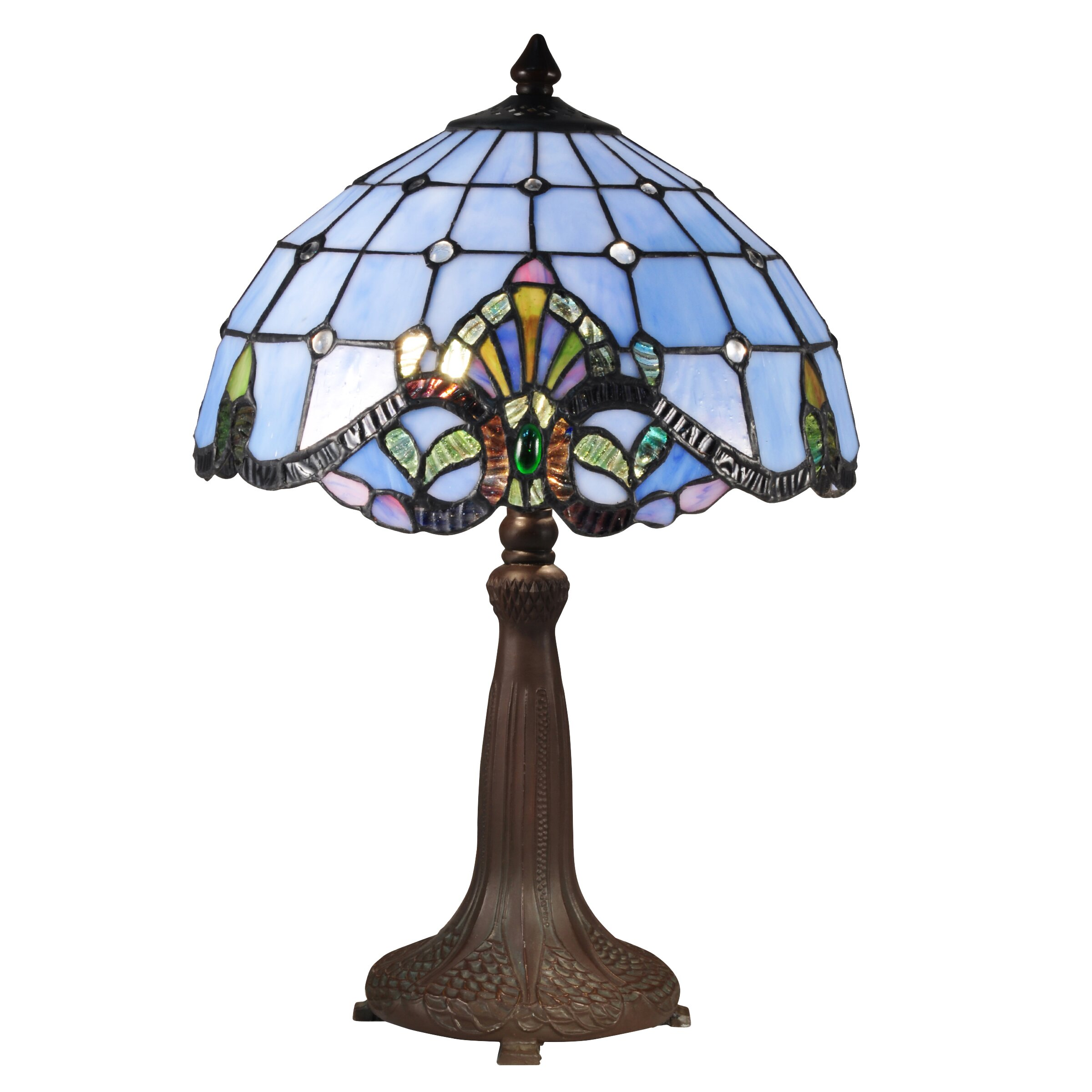 dale tiffany baroque 18 5 h table lamp with bowl shade reviews. Black Bedroom Furniture Sets. Home Design Ideas