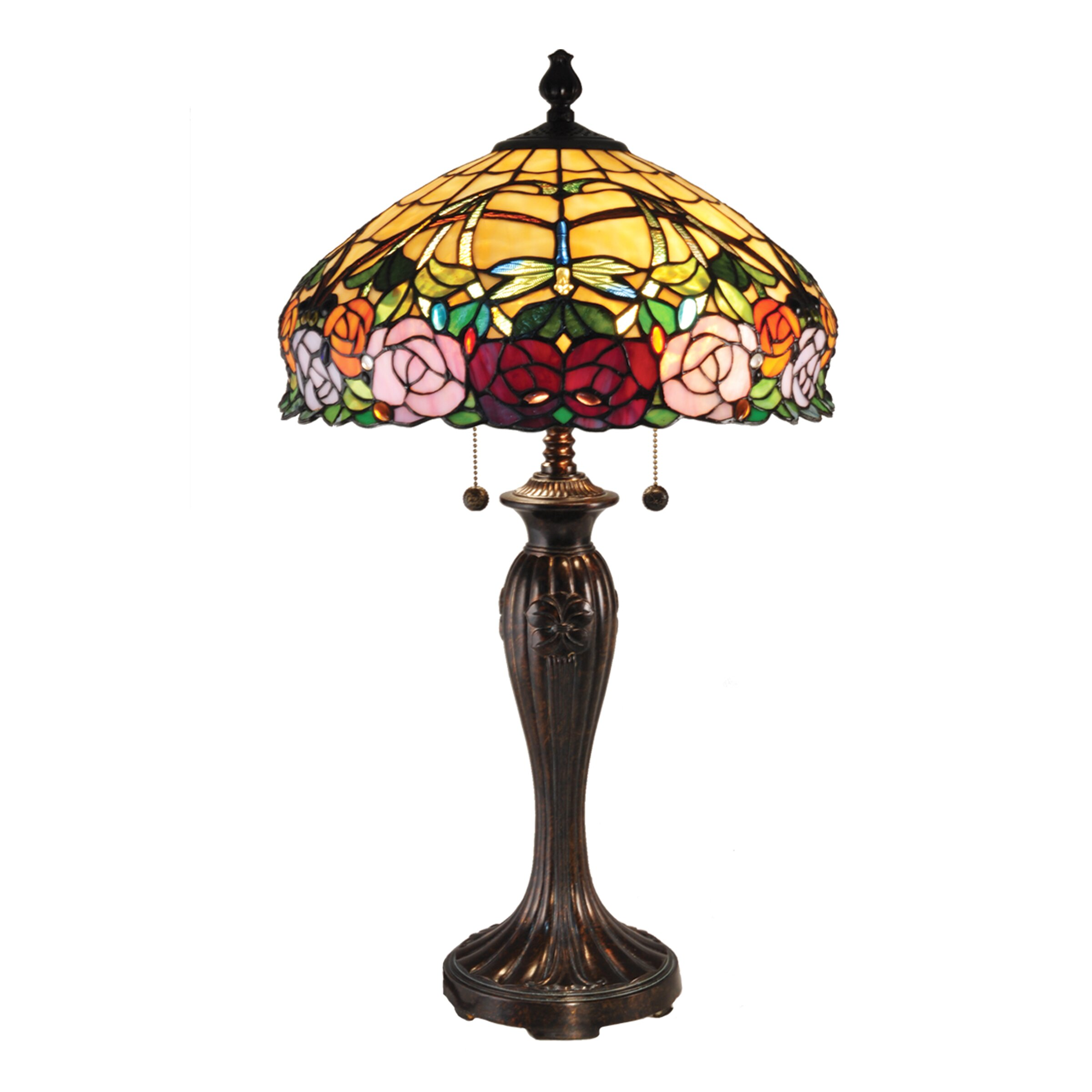 Dale Tiffany Zenia Rose 27 Quot H Table Lamp With Bowl Shade