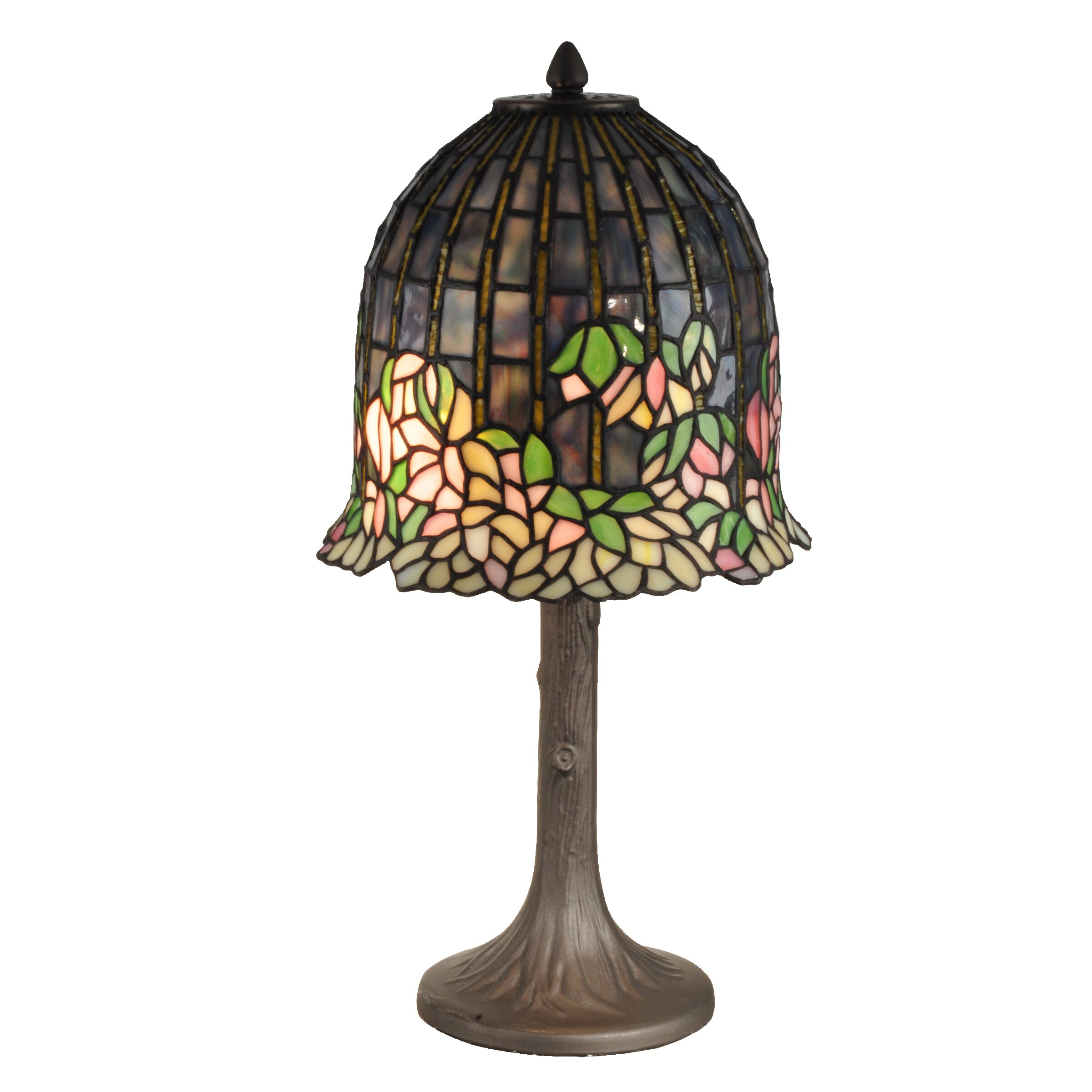 dale tiffany flowering lotus 20 h table lamp with bell shade. Black Bedroom Furniture Sets. Home Design Ideas