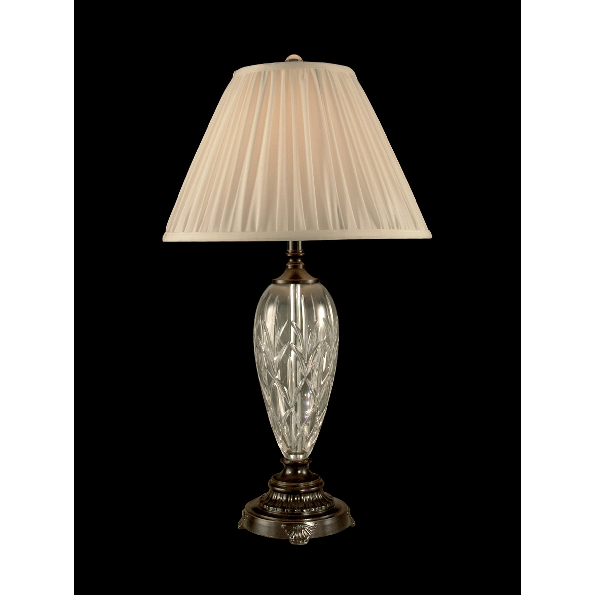 dale tiffany lucy crystal h table lamp with empire shade. Black Bedroom Furniture Sets. Home Design Ideas