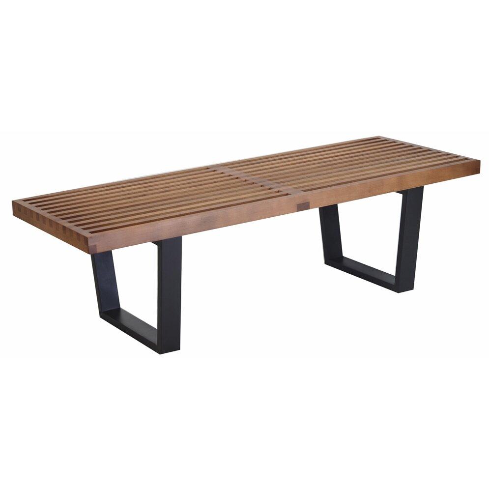 Design Tree Home Wood Metal Entryway Bench Reviews Wayfair