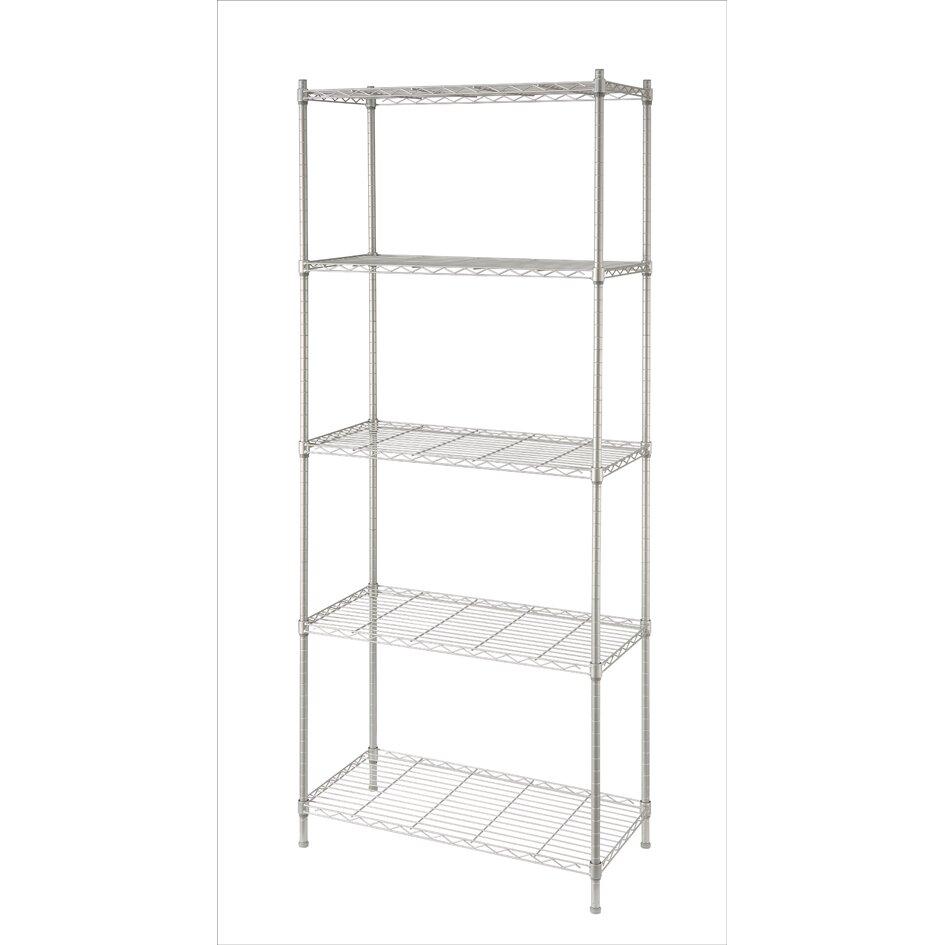 Metal Wire Shelving : Artiva usa quot h metal wire five shelves shelving unit