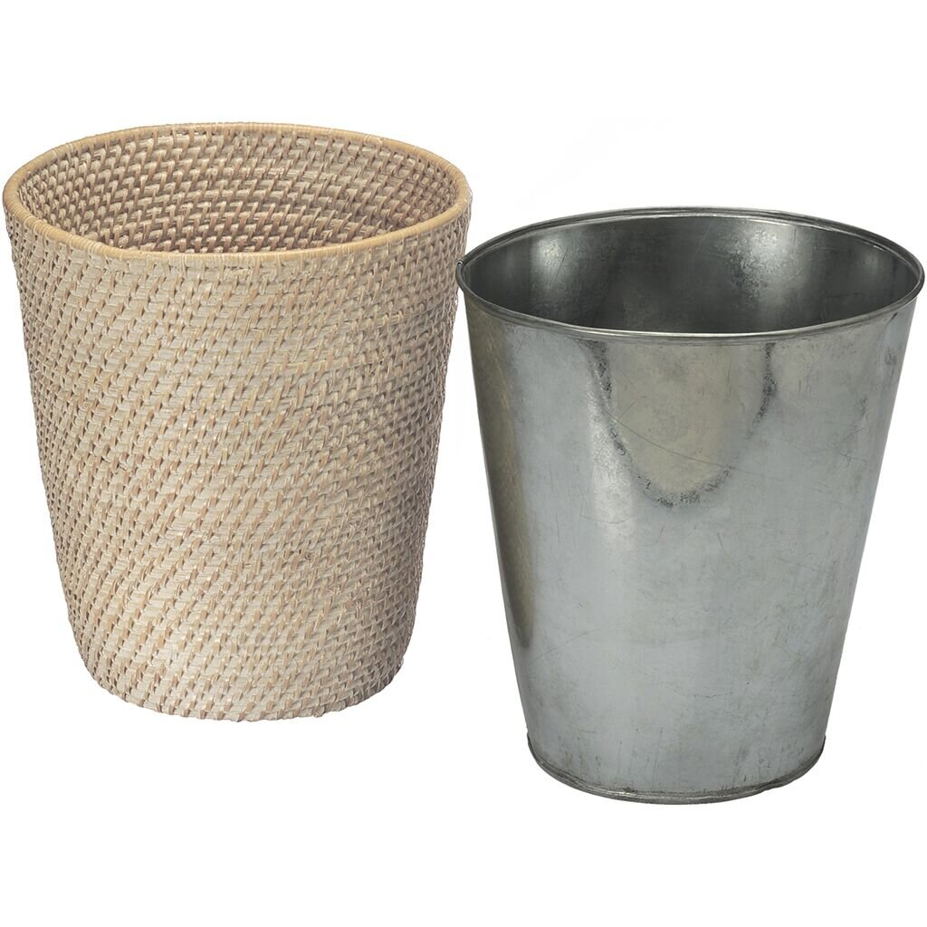 Laguna handwoven round rattan waste basket wayfair - Rattan waste basket ...