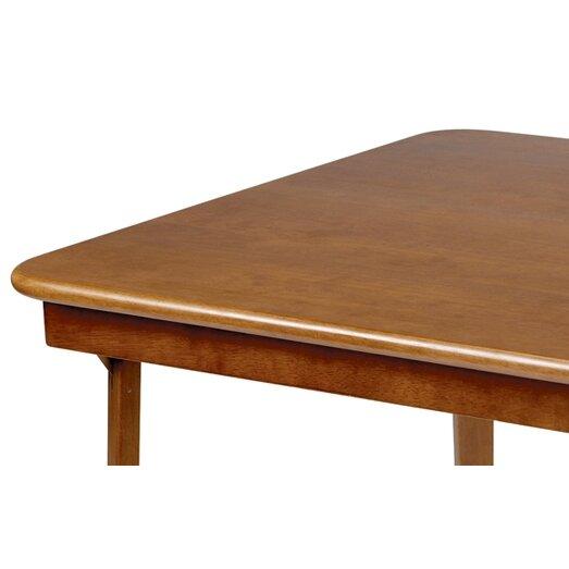 stakmore straight edge wood 32 folding card table. Black Bedroom Furniture Sets. Home Design Ideas