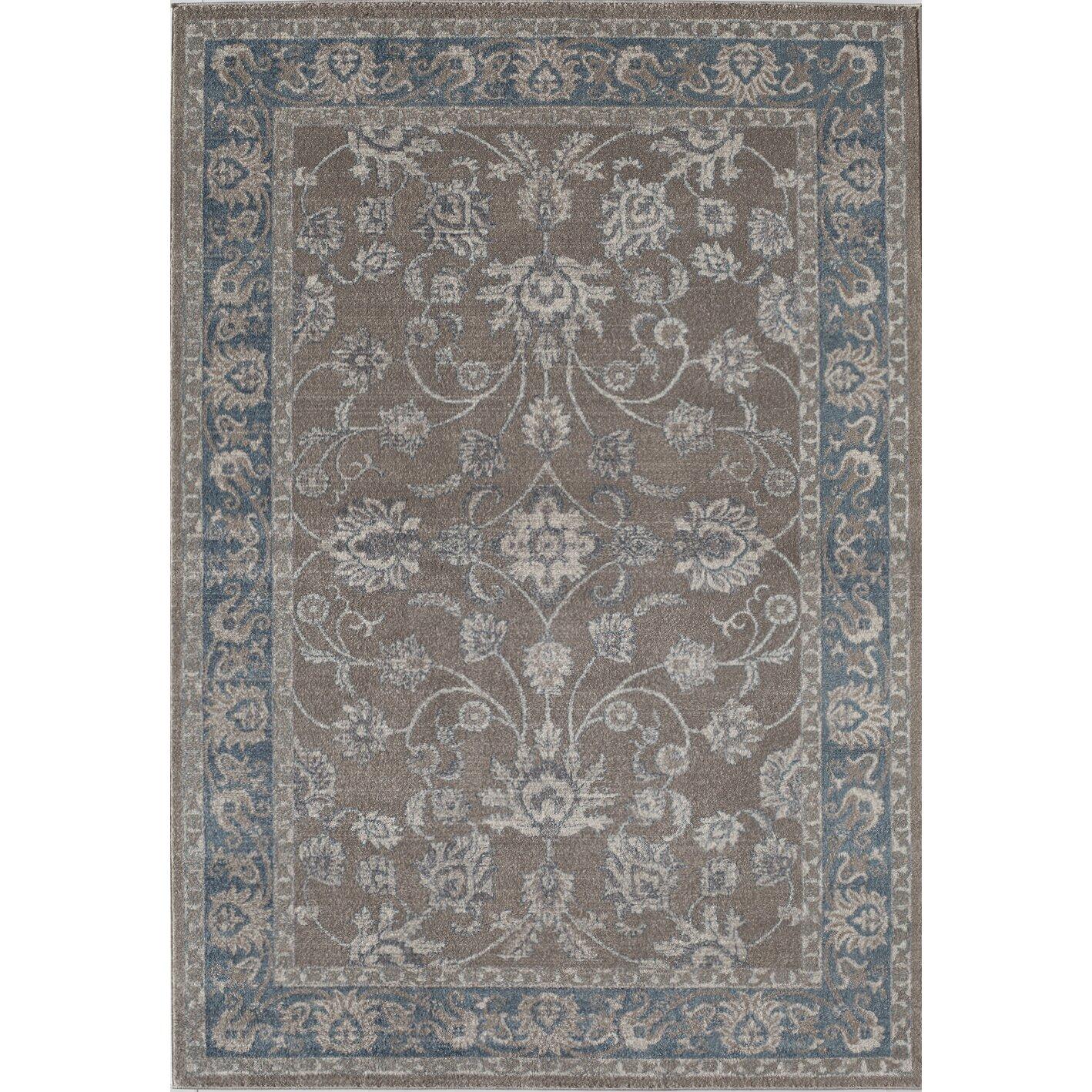 estelle gray blue area rug wayfair. Black Bedroom Furniture Sets. Home Design Ideas
