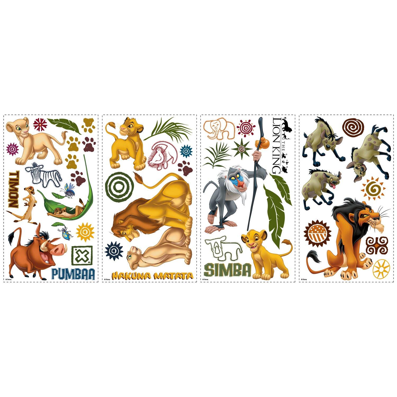 disney quot the lion king quot cutout wall decal wayfair lion king wall sticker simba nala decal disney removable