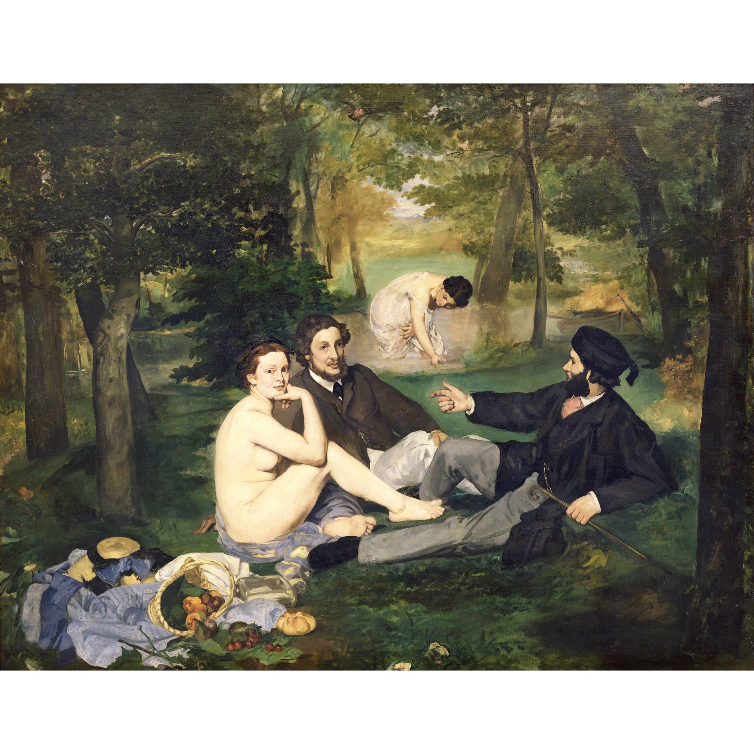 Manet Dejeuner sur lHerbe (1863) Poster Wall Mural by Wallhogs