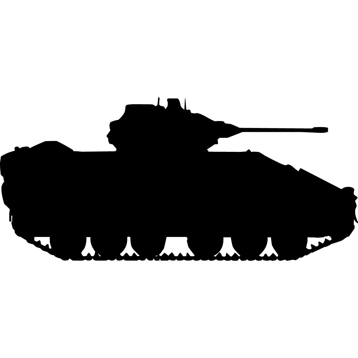 Haynes Military Tank Iii Silhouette Cutout Wall Decal