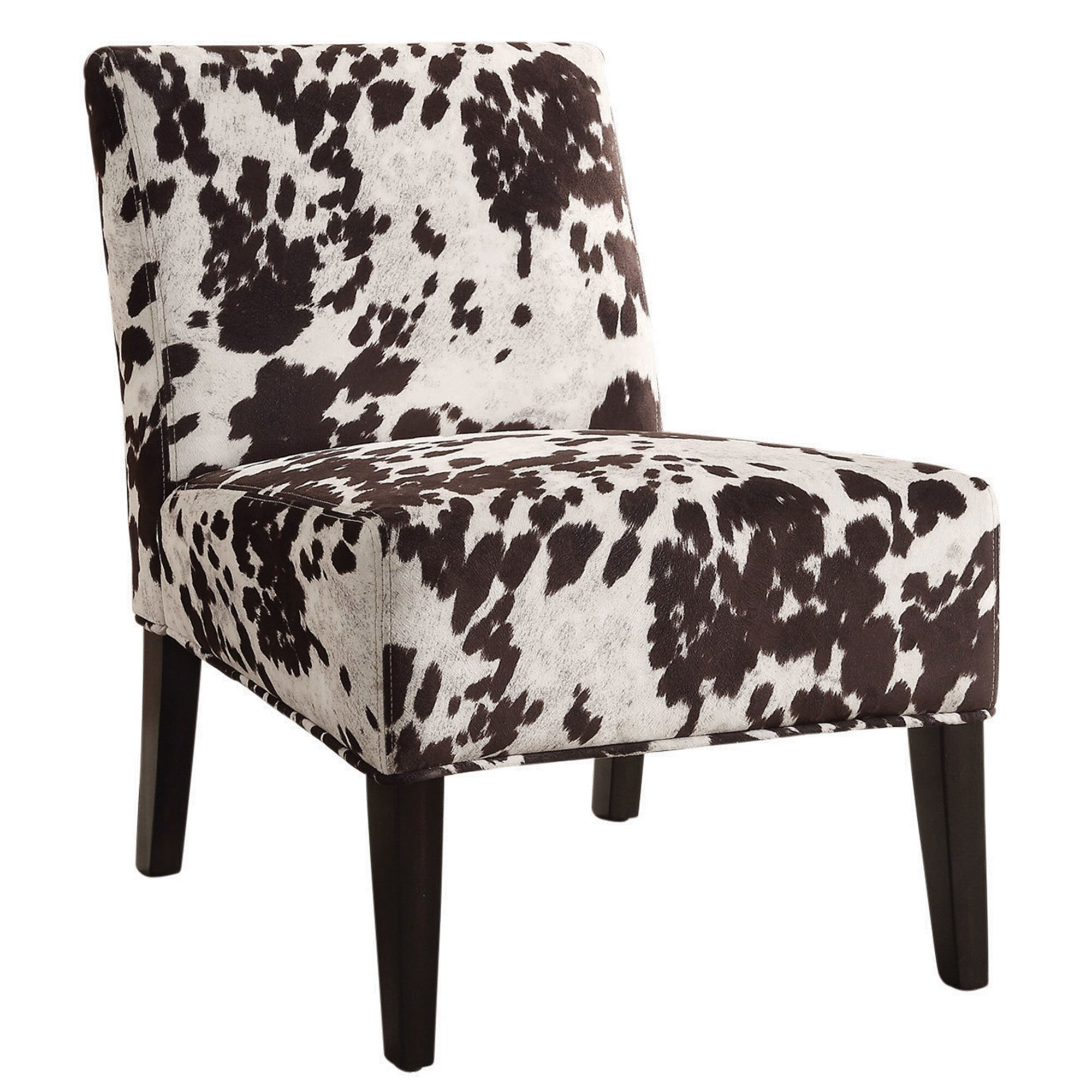 WorldWide HomeFurnishings Angus Faux Cowhide Accent Chair