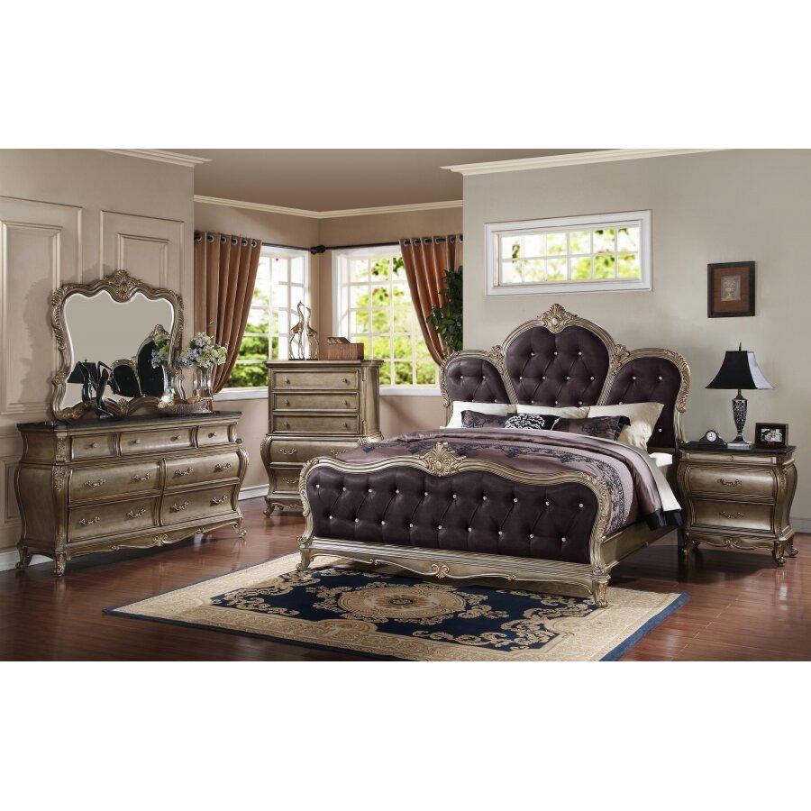 Meridian Furniture USA Roma Panel Customizable Bedroom Set