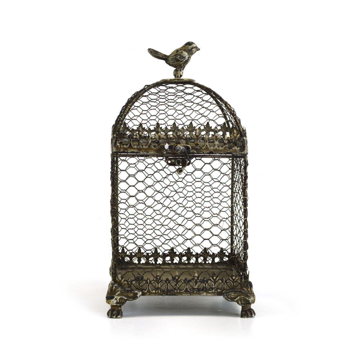 SheasWildflowers Decorative Vintage Metal Square Bird Cage & Reviews ...